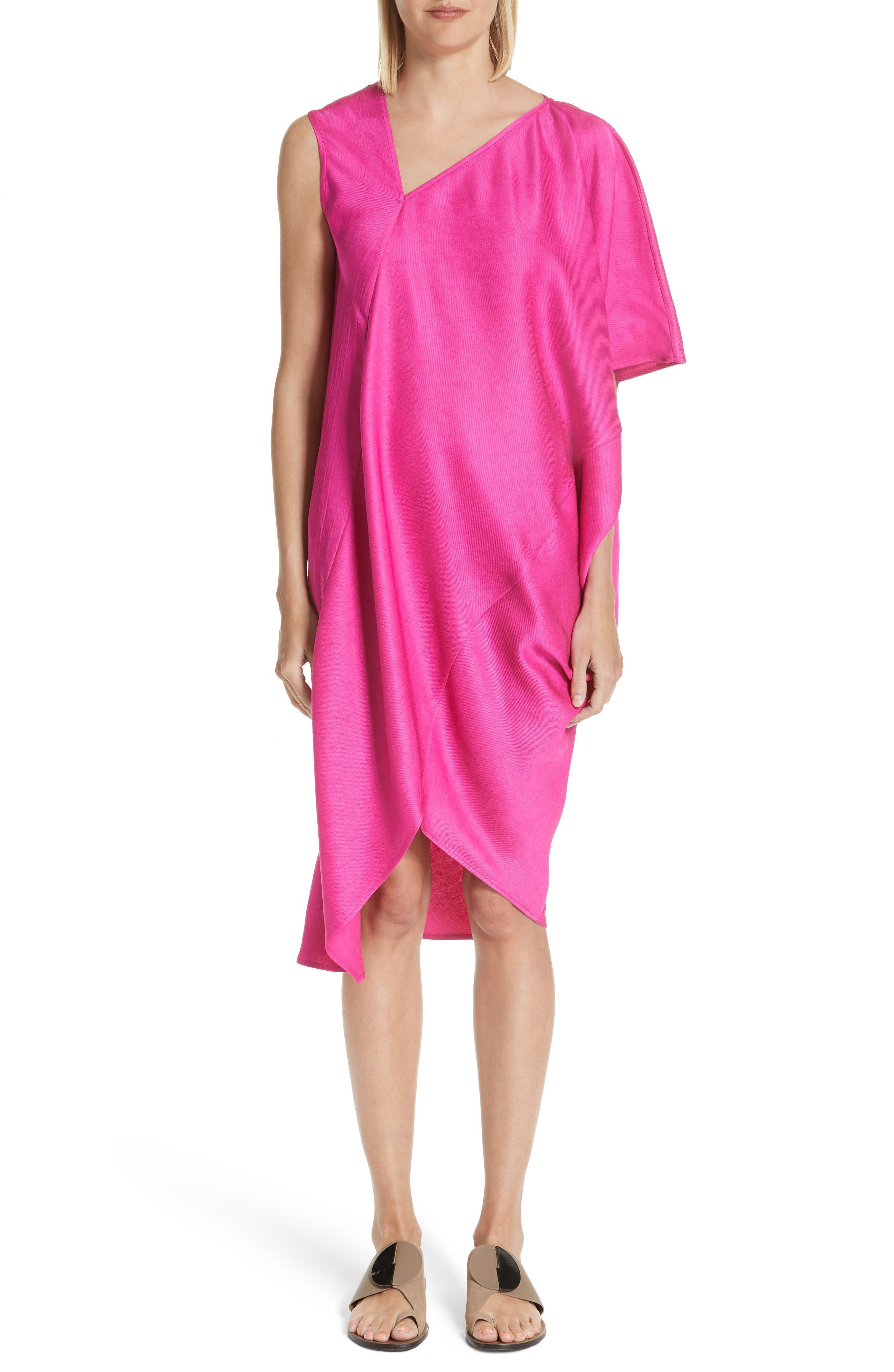Zero + Maria Cornejo Asymmetrical One-Shoulder Dress