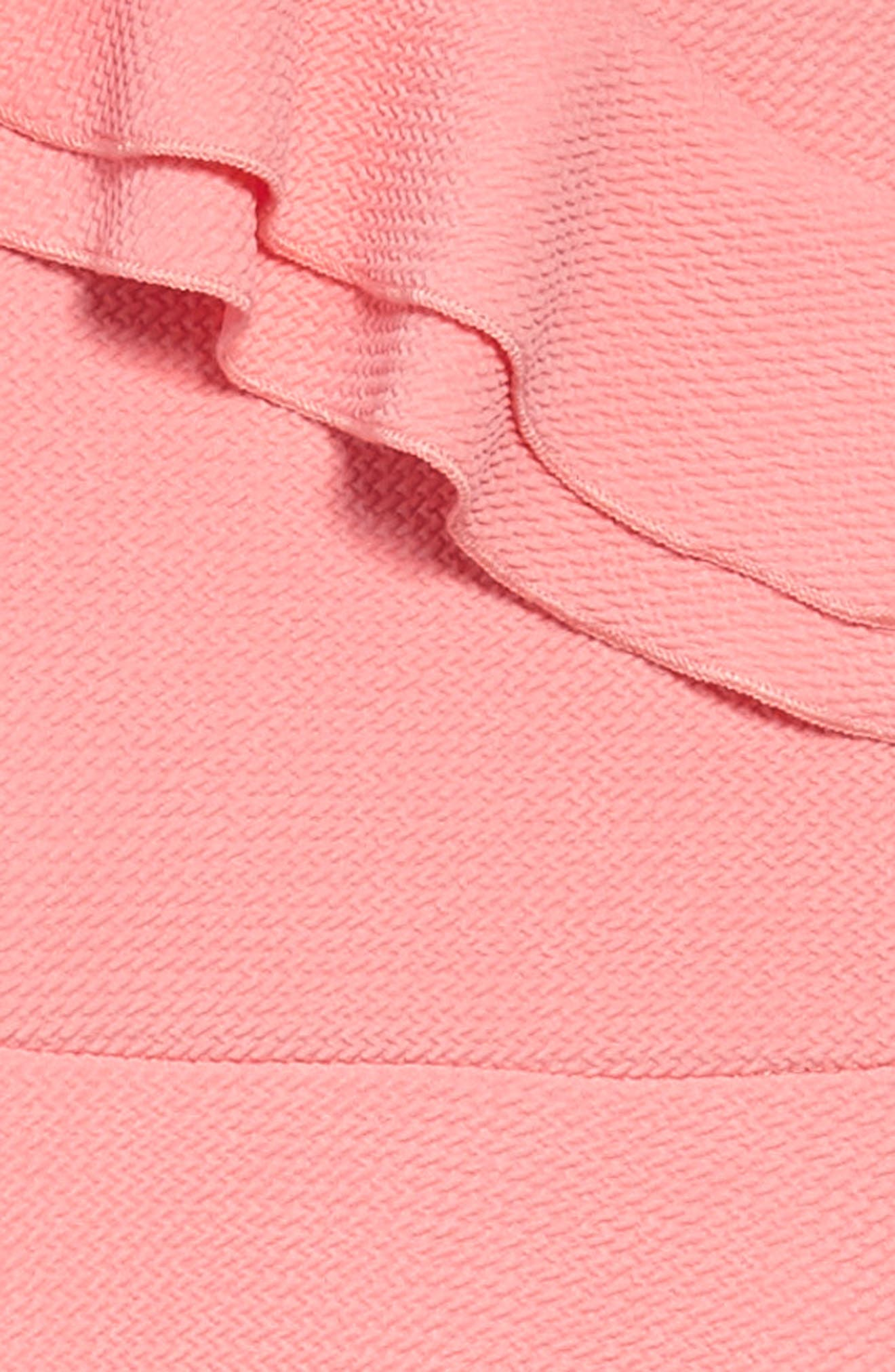 Double Ruffle Dress,                             Alternate thumbnail 3, color,                             Peach