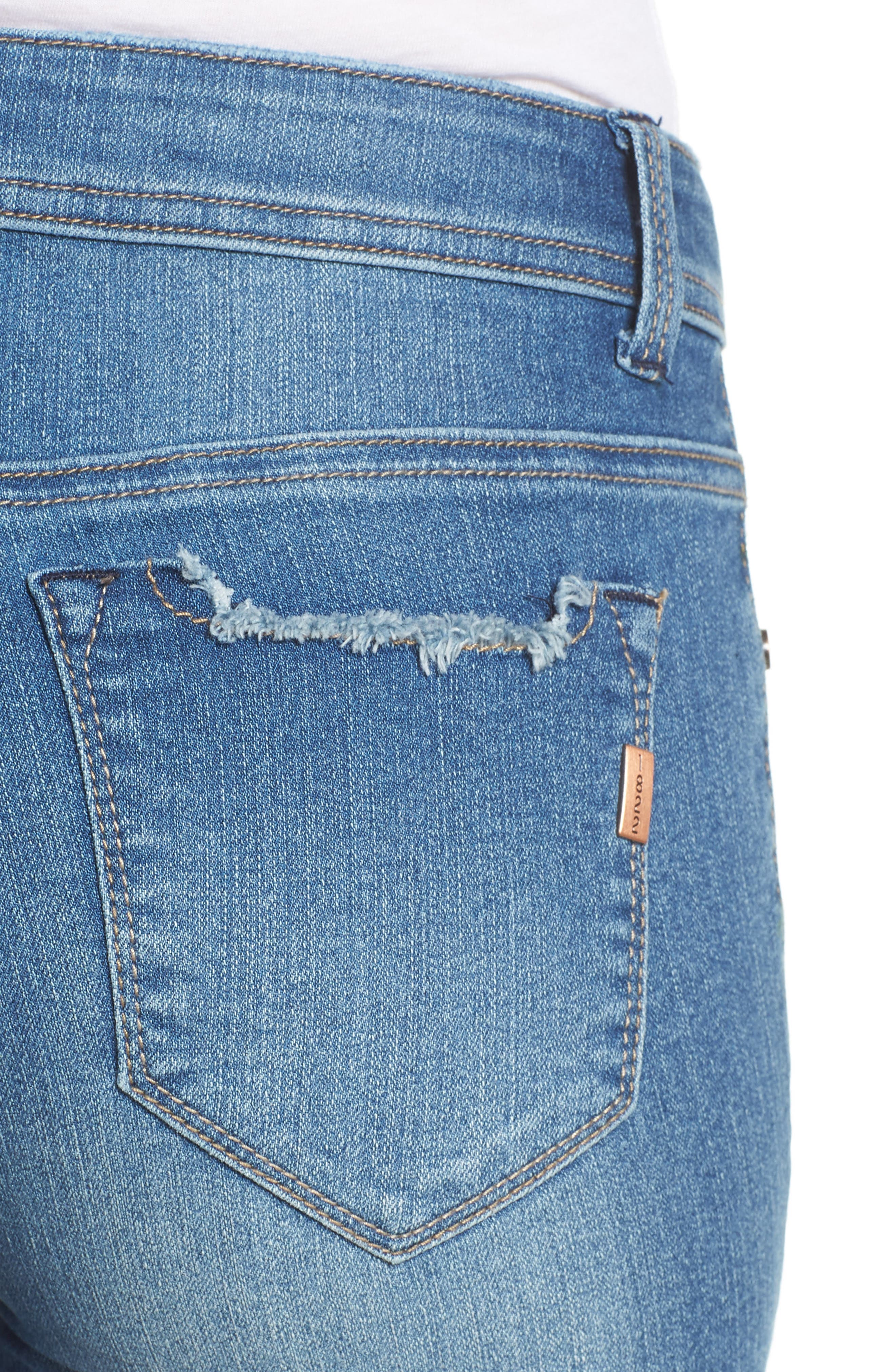 Raw Hem Denim Shorts,                             Alternate thumbnail 4, color,                             Narissa