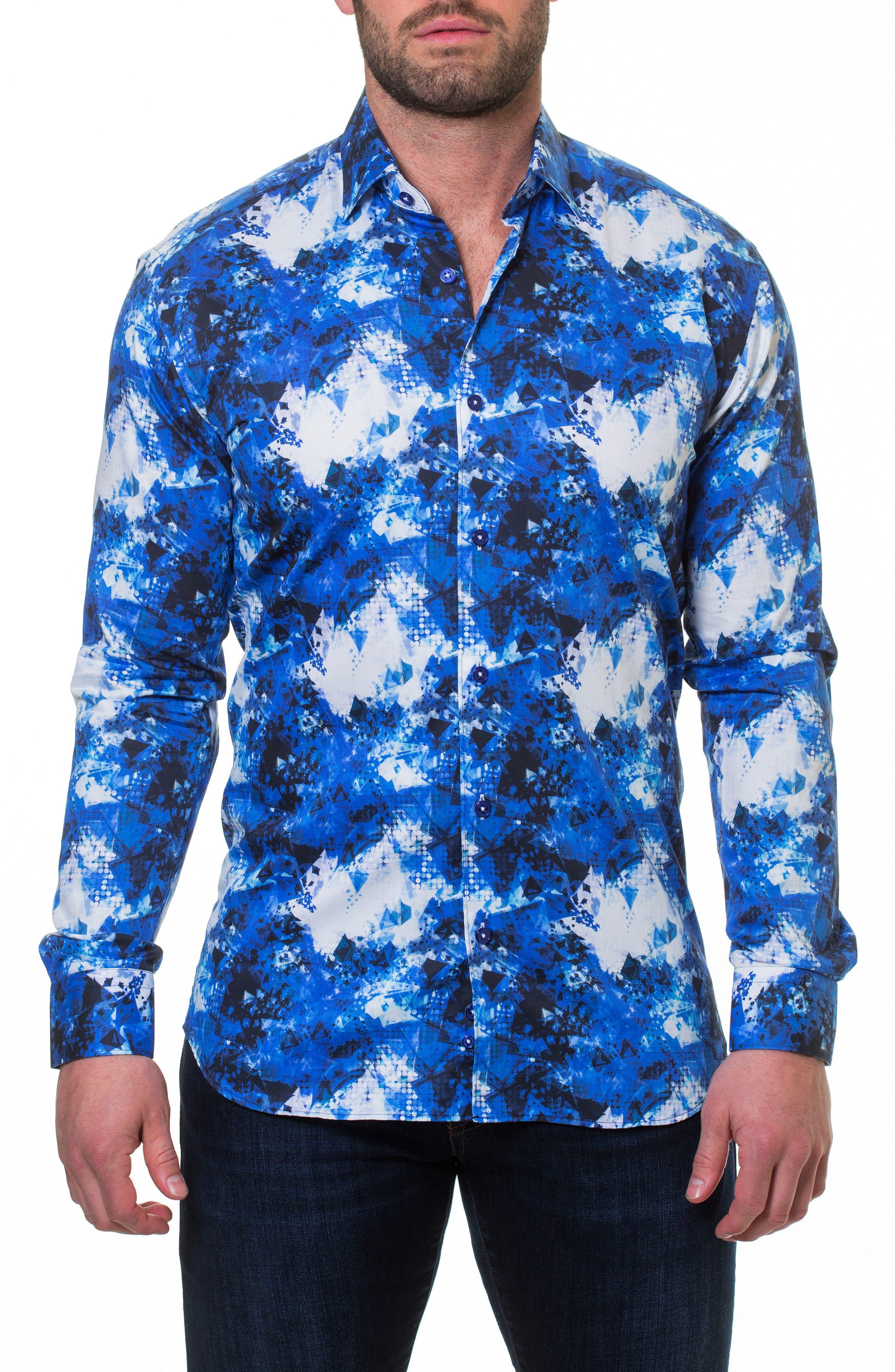 Luxor Shapes Slim Fit Sport Shirt,                         Main,                         color, Blue