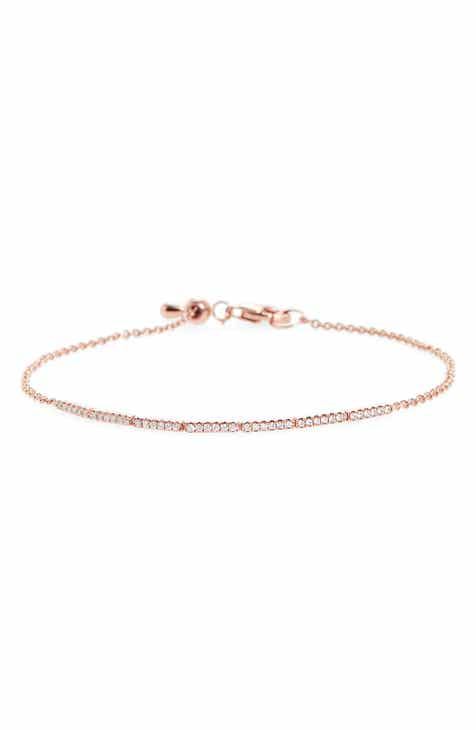 Bony Levy Aviva Adjule Diamond Bar Bracelet Nordstrom Exclusive