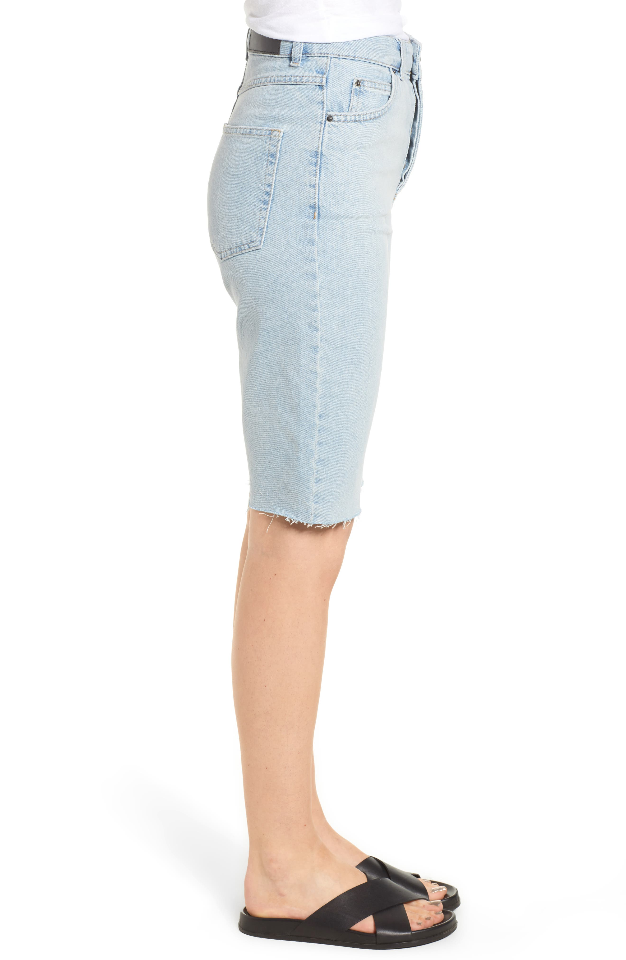Alternate Image 3  - Topshop Boutique Bleach Denim Board Shorts
