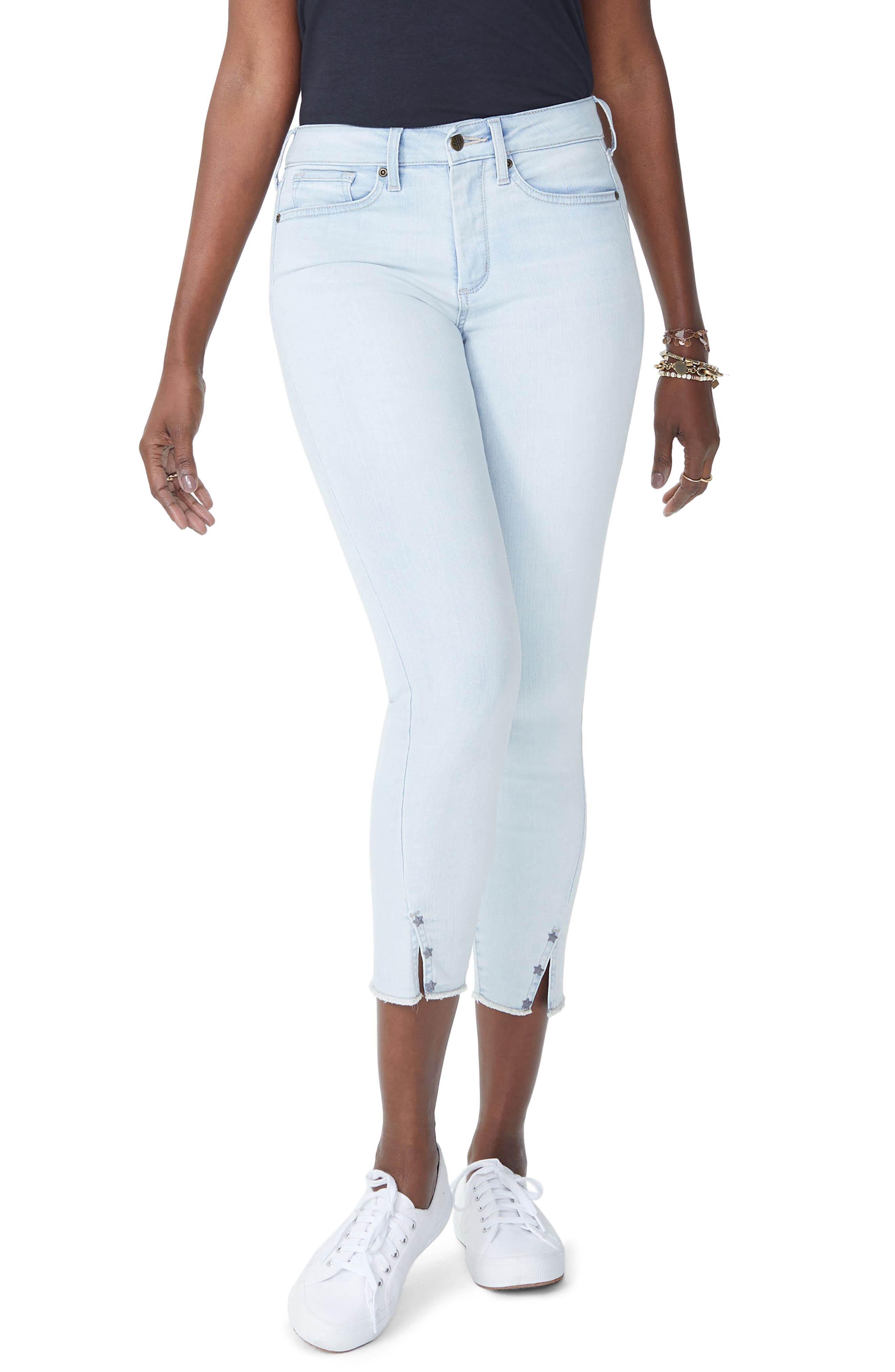 Ami Twist Seam Stretch Ankle Skinny Jeans,                             Main thumbnail 1, color,                             Palm Desert