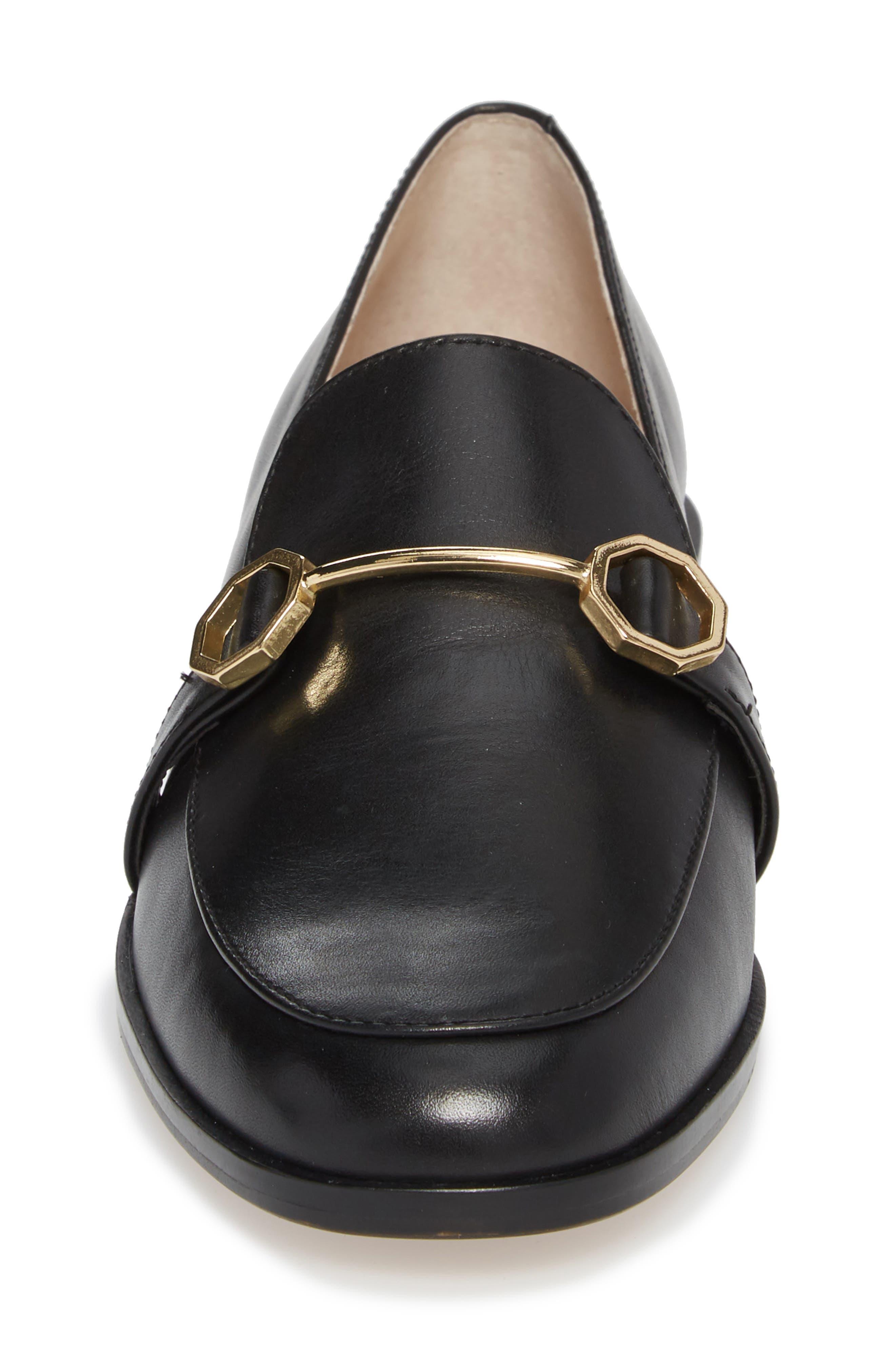 Bayne Loafer,                             Alternate thumbnail 4, color,                             Black Leather