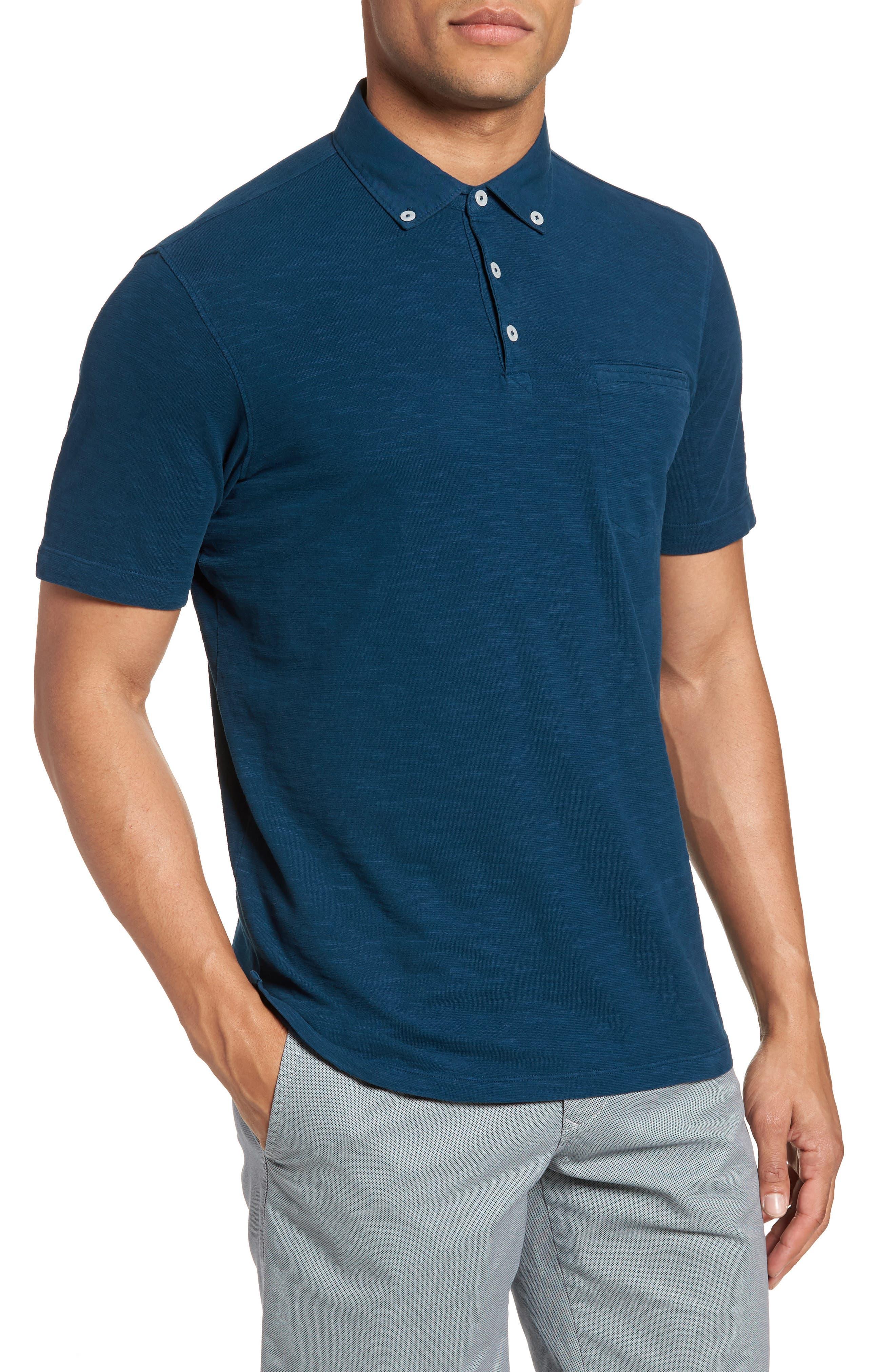 Slim Fit Polo,                         Main,                         color, Sea