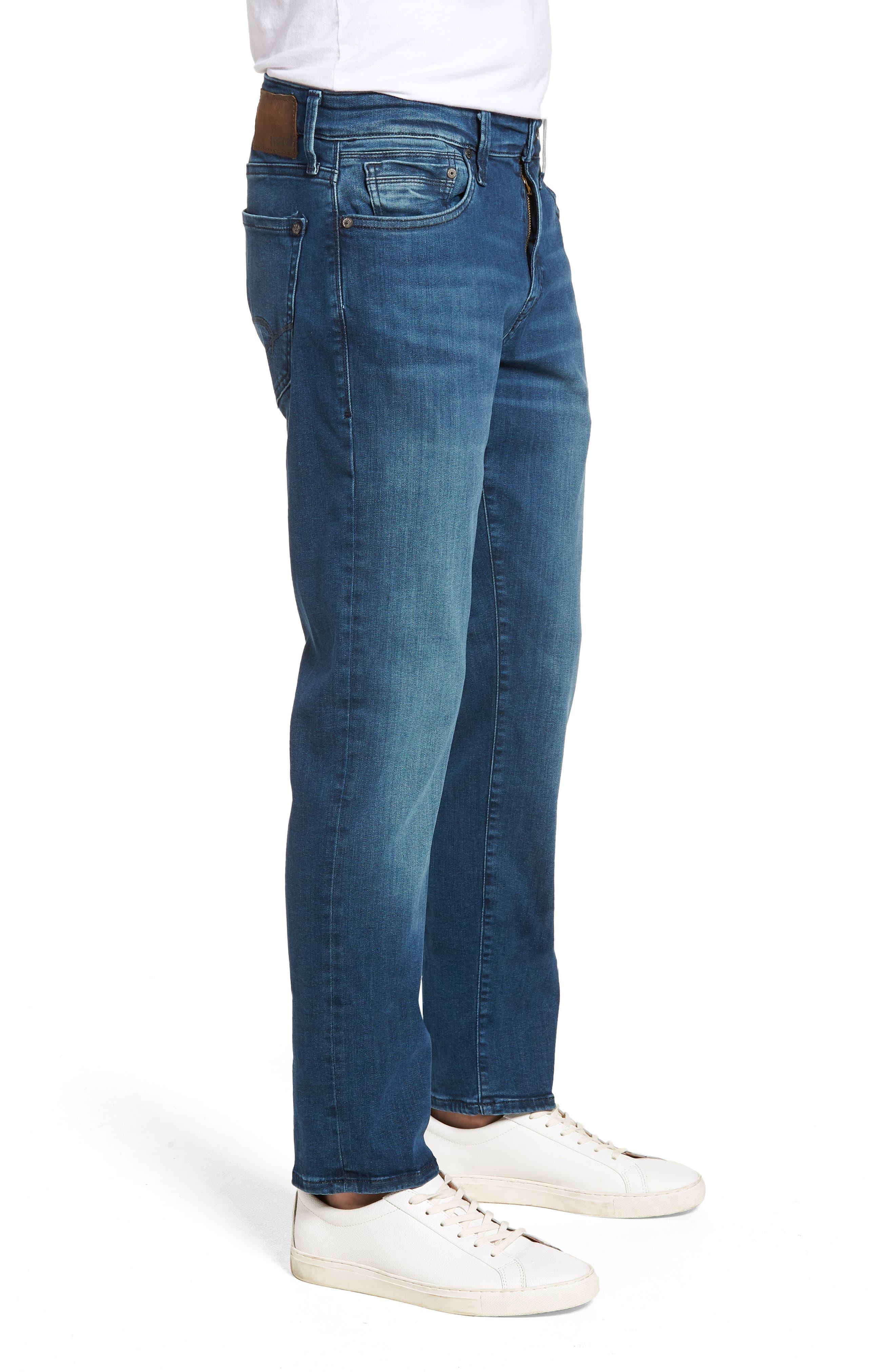 Marcus Slim Straight Leg Jeans,                             Alternate thumbnail 3, color,                             Mid Tonal Williamsburg
