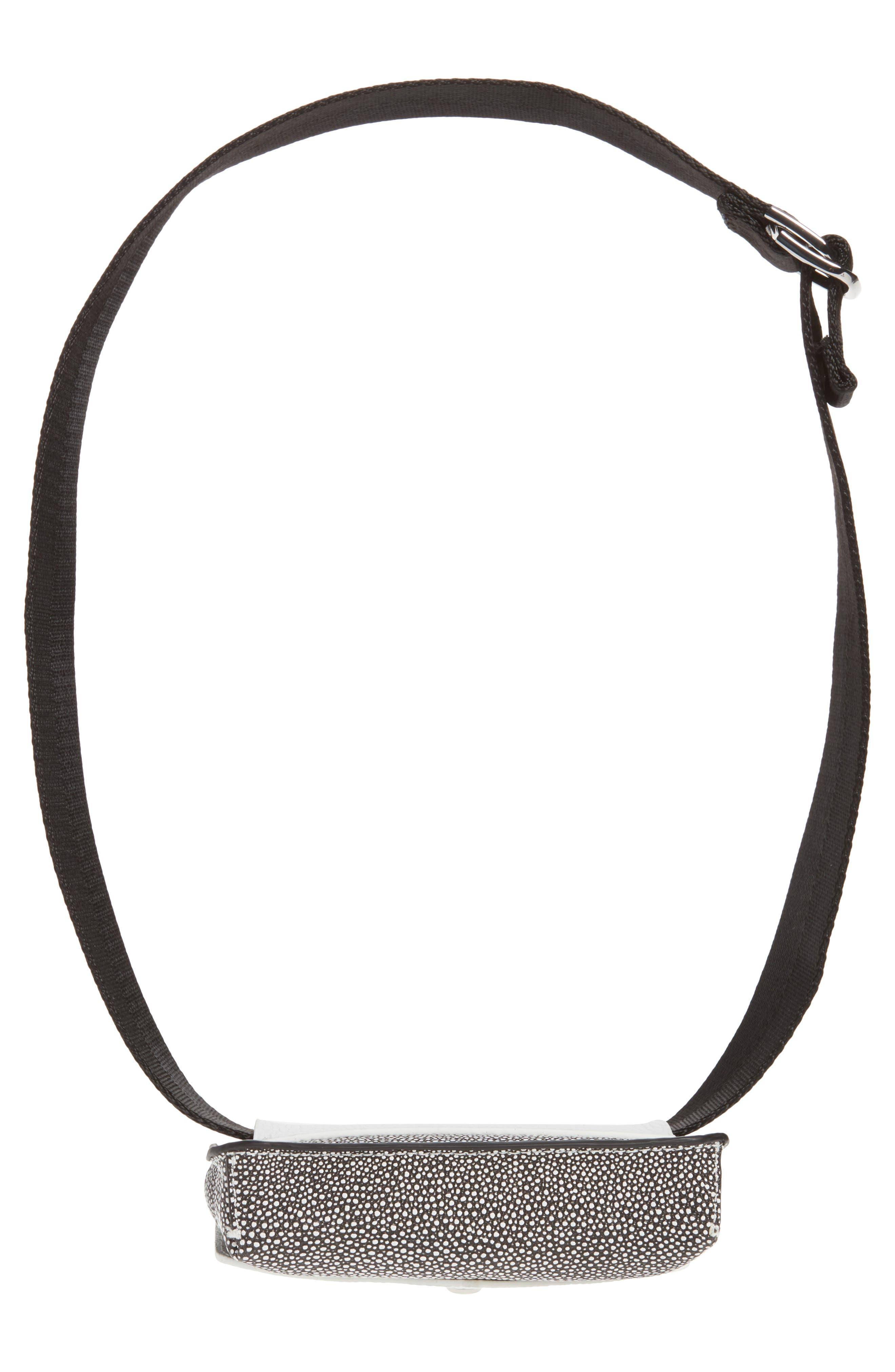 Vivi Calfskin Leather Convertible Belt Bag,                             Alternate thumbnail 8, color,                             Chalk Stingray