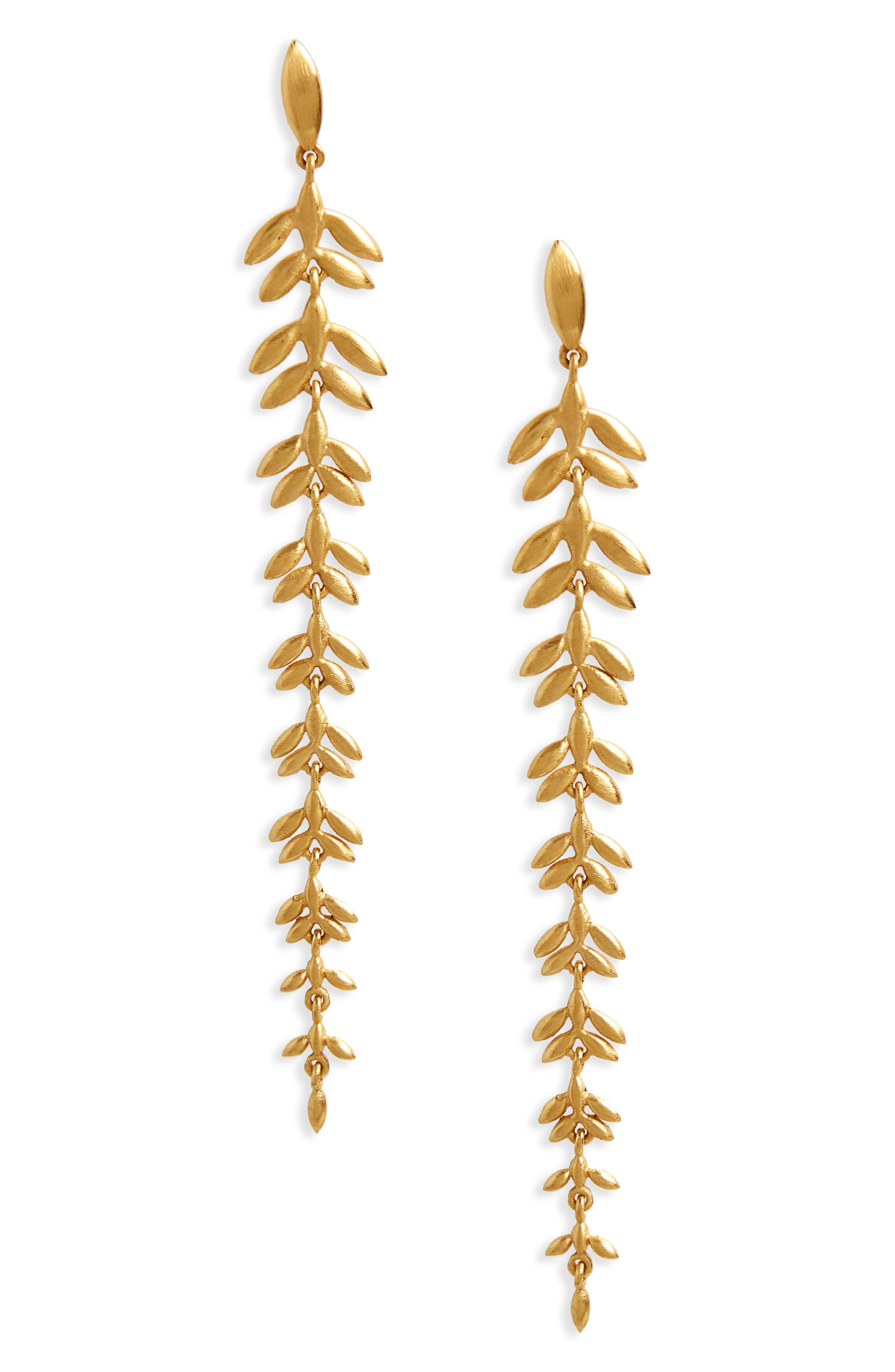 Dean Davidson Leaf Drop Earrings