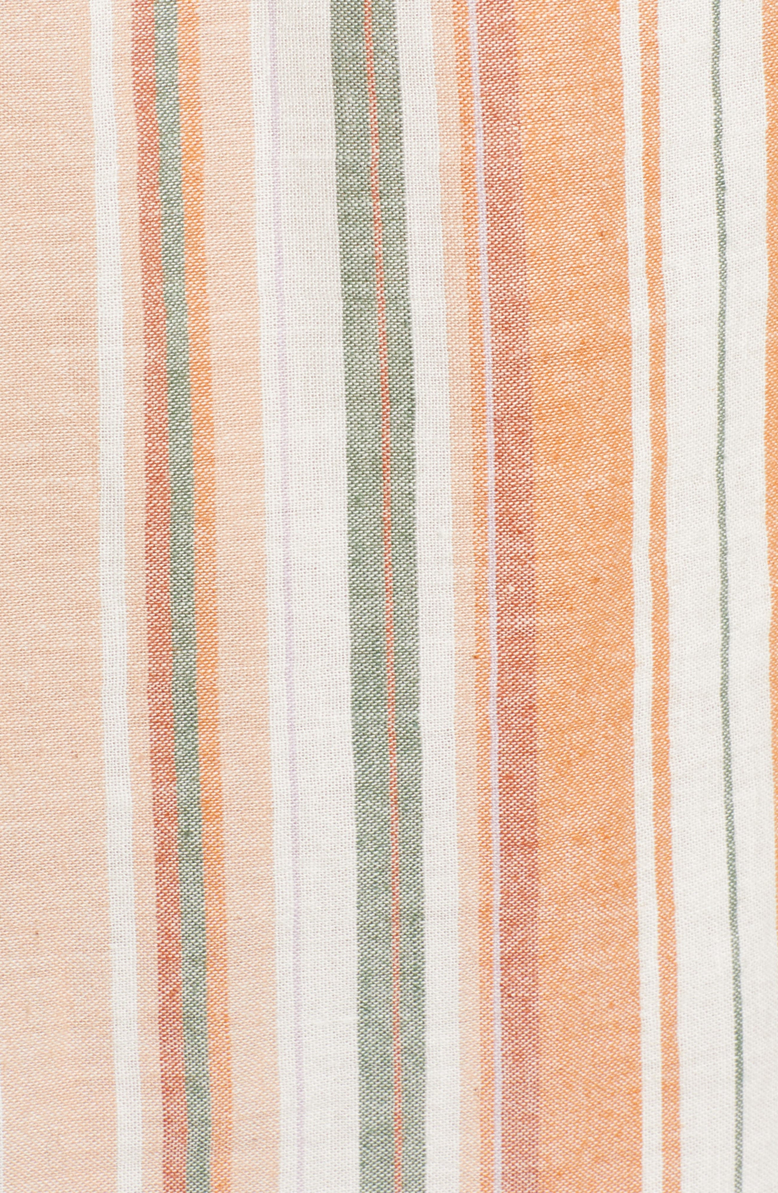 Bishop + Young Sunset Stripe Off the Shoulder Dress,                             Alternate thumbnail 6, color,                             Orange White Stripe