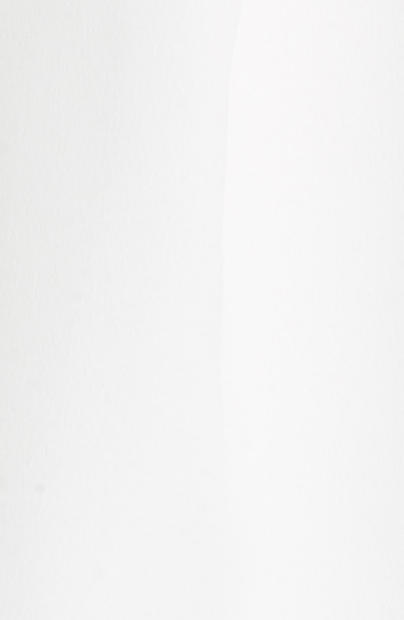 Embellished Neck A-Line Tunic Dress,                             Alternate thumbnail 5, color,                             White