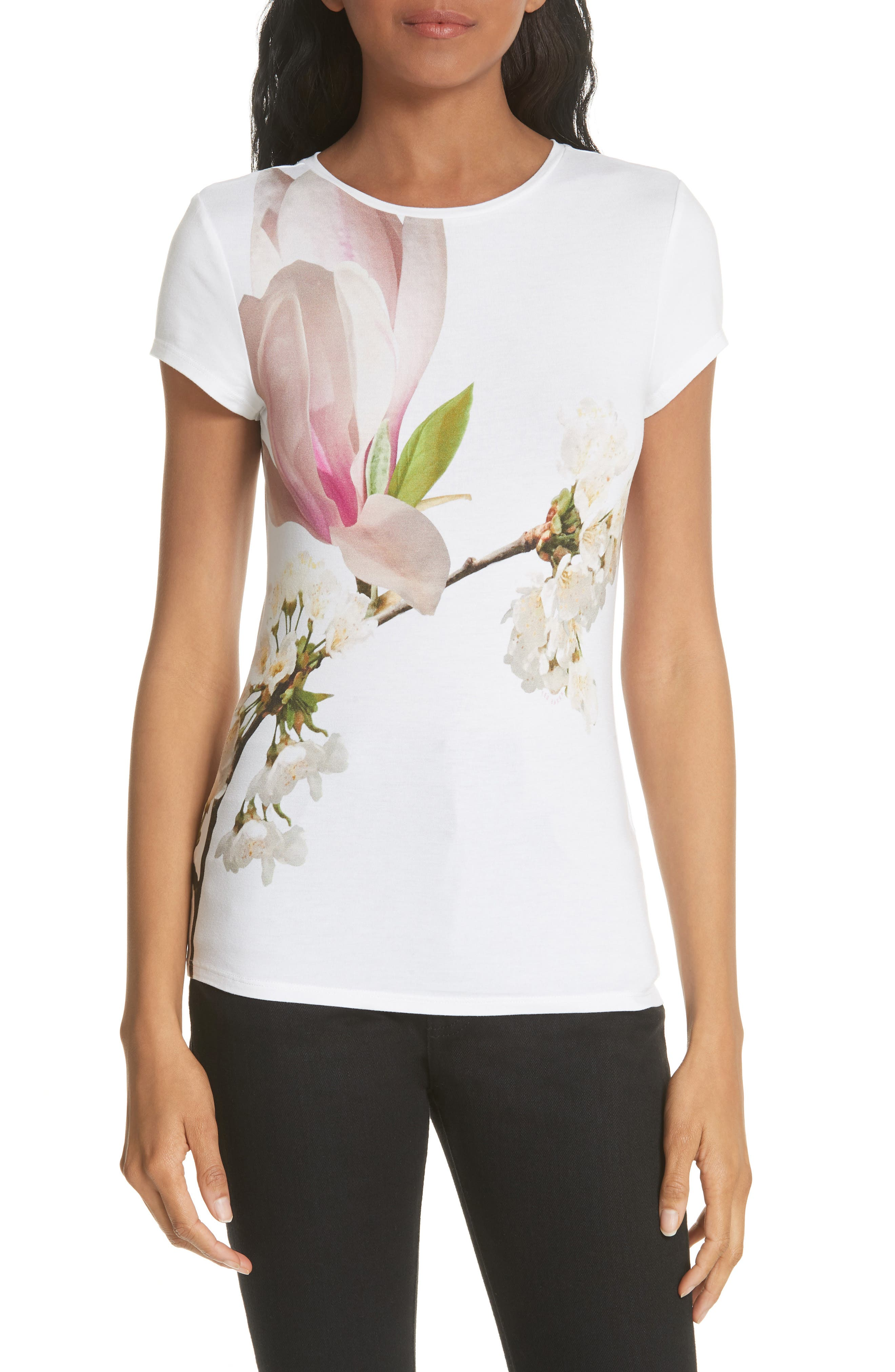 Harmony Fitted Tee,                         Main,                         color, White