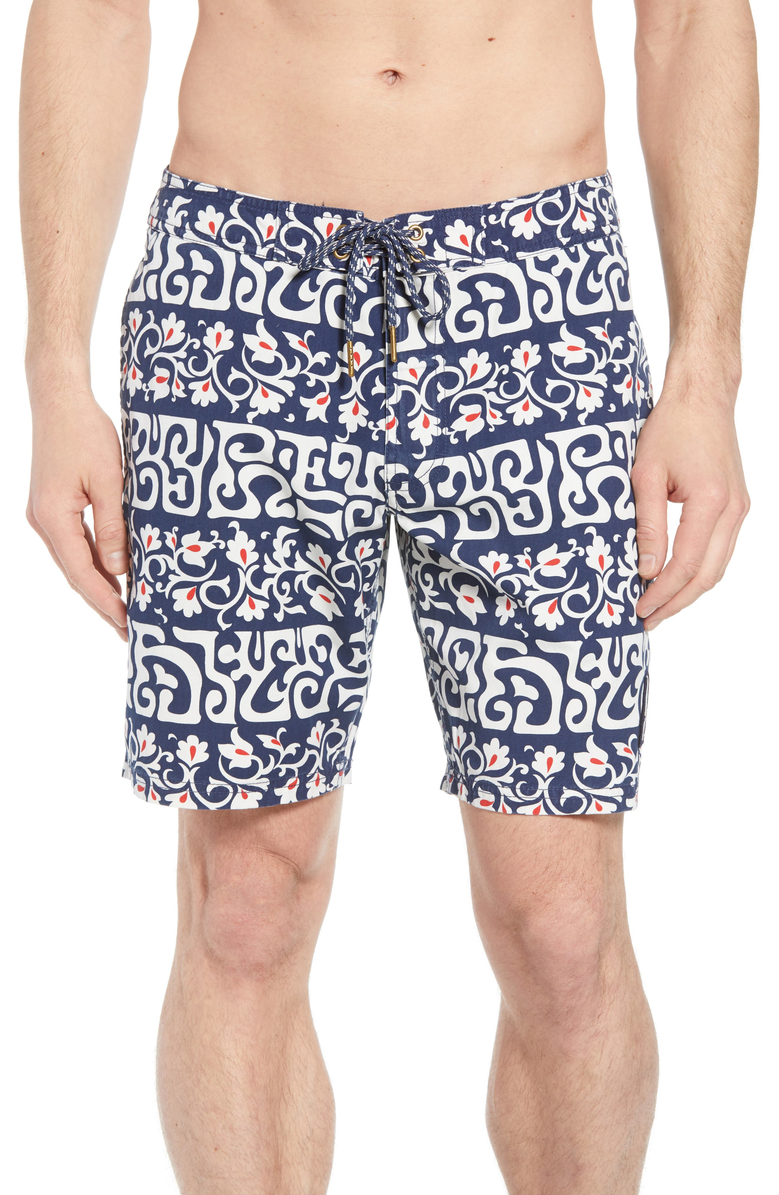 Tahitian Reyn Board Shorts,                         Main,                         color, Blue