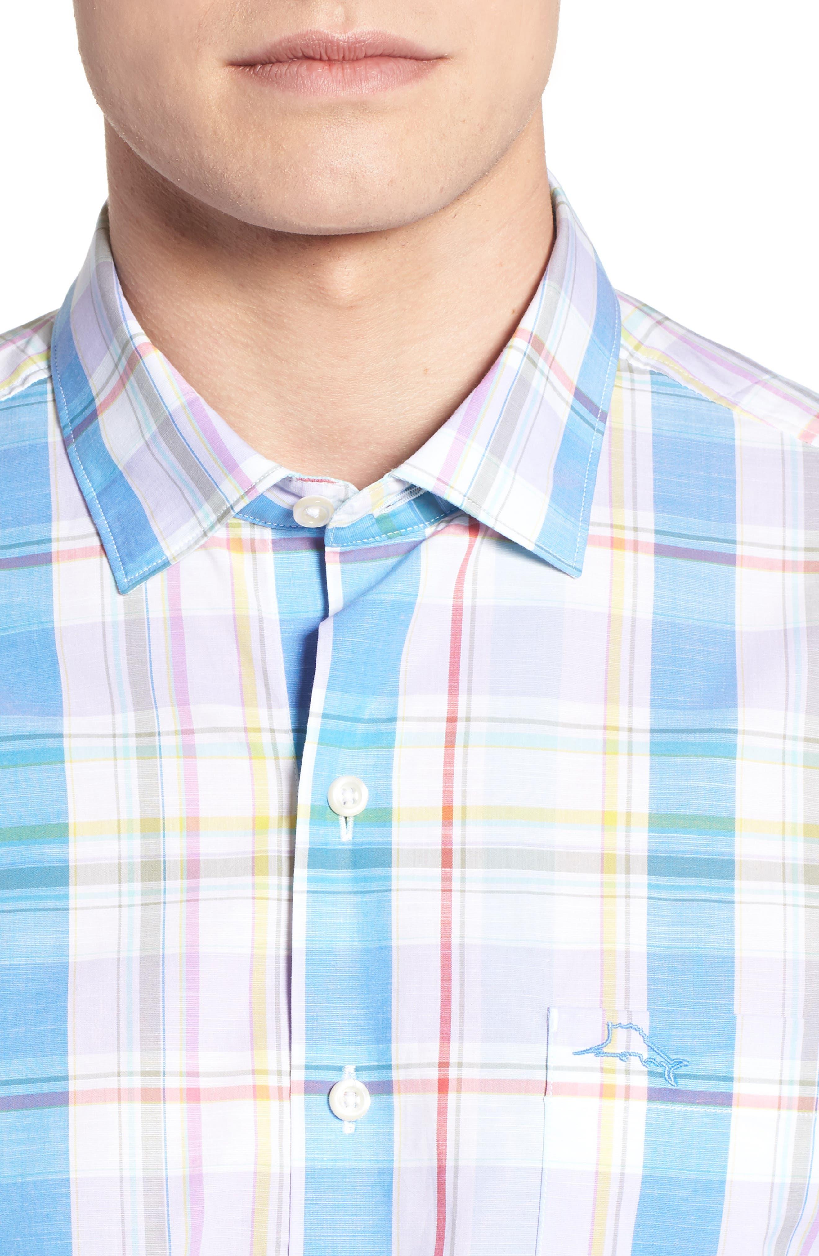 Privada Plaid Sport Shirt,                             Alternate thumbnail 2, color,                             Blue Aster
