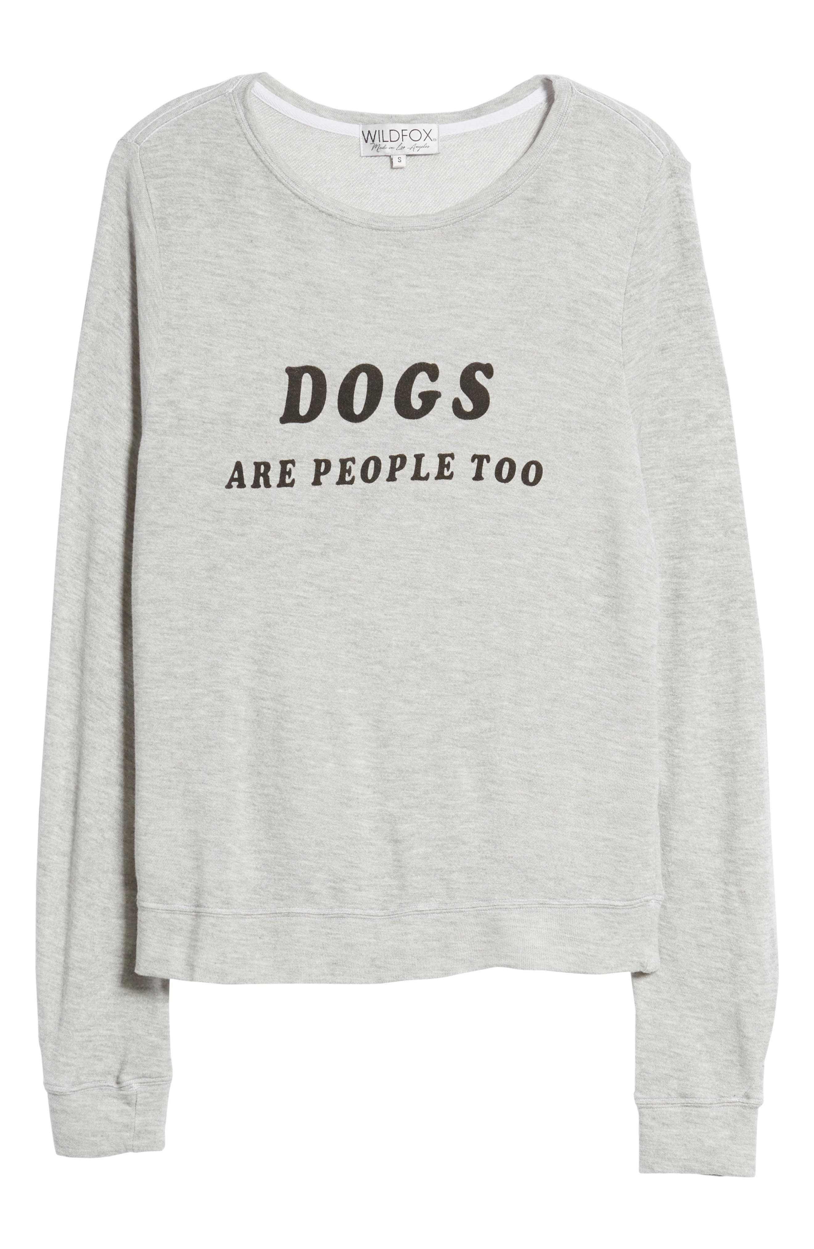 Dogs - Baggy Beach Jumper Pullover,                             Alternate thumbnail 7, color,                             Heather