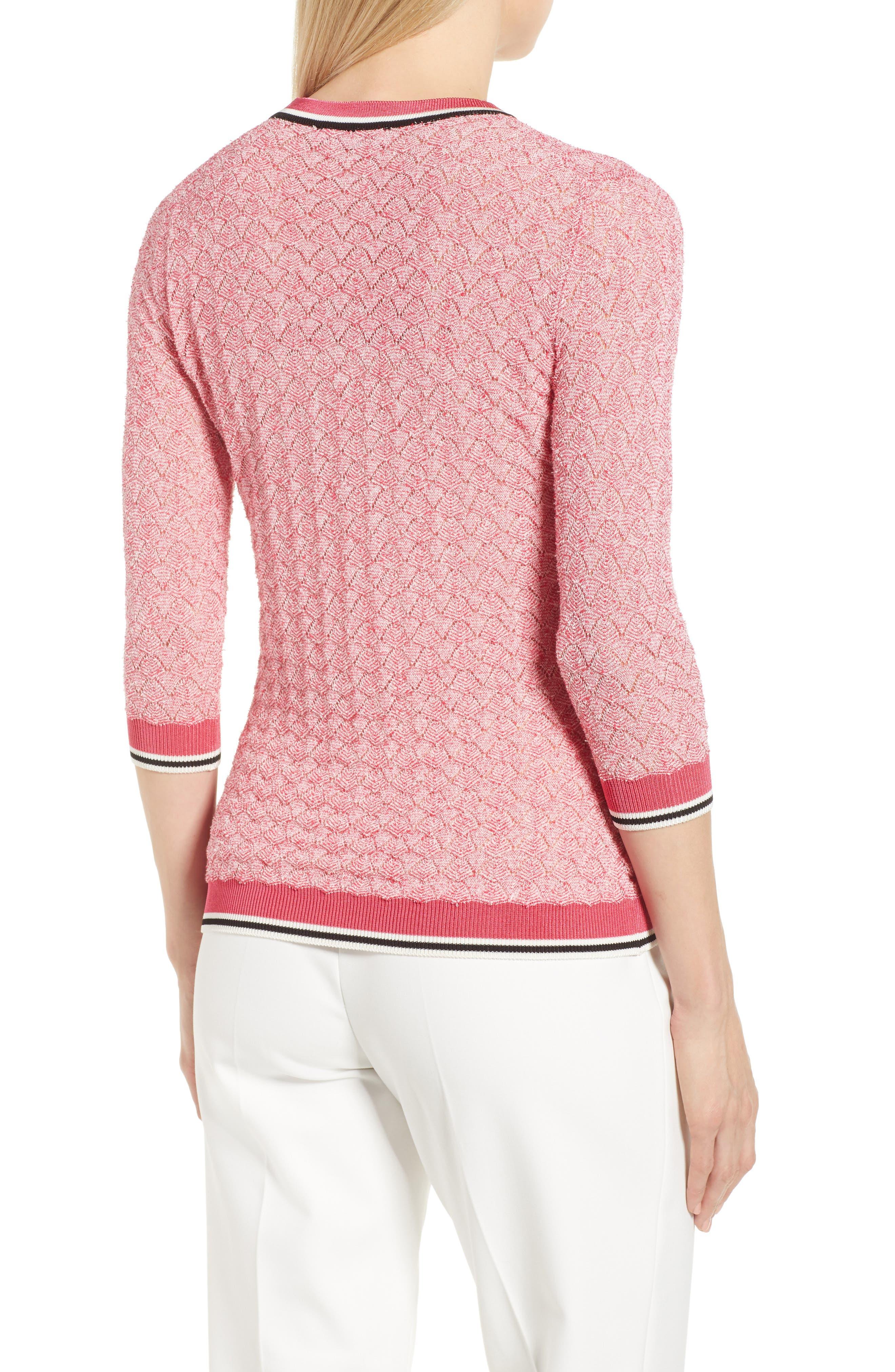 Basket Weave Sweater,                             Alternate thumbnail 2, color,                             Lychee Fantasy
