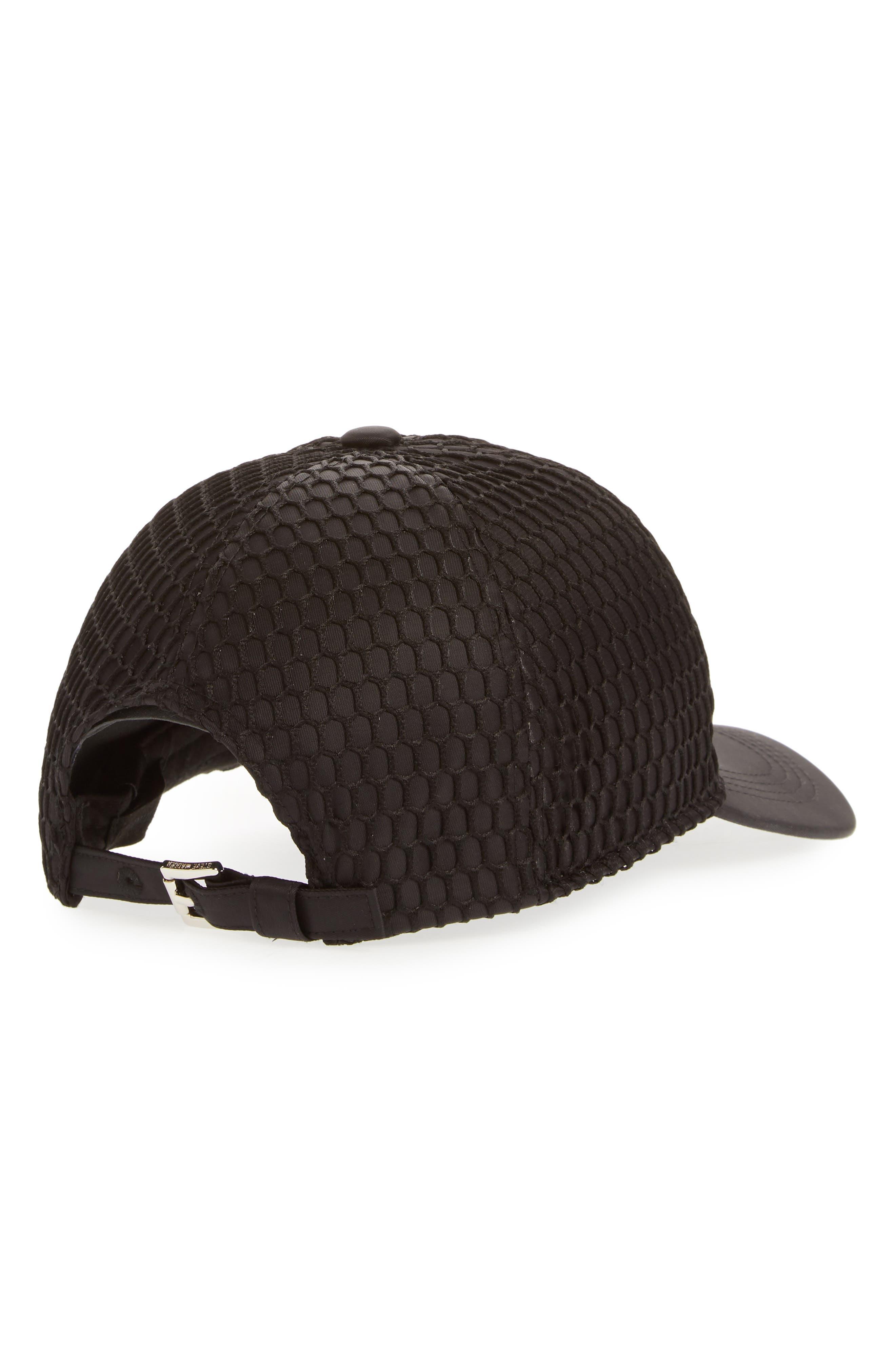 Mesh Crown Baseball Cap,                             Alternate thumbnail 2, color,                             Black