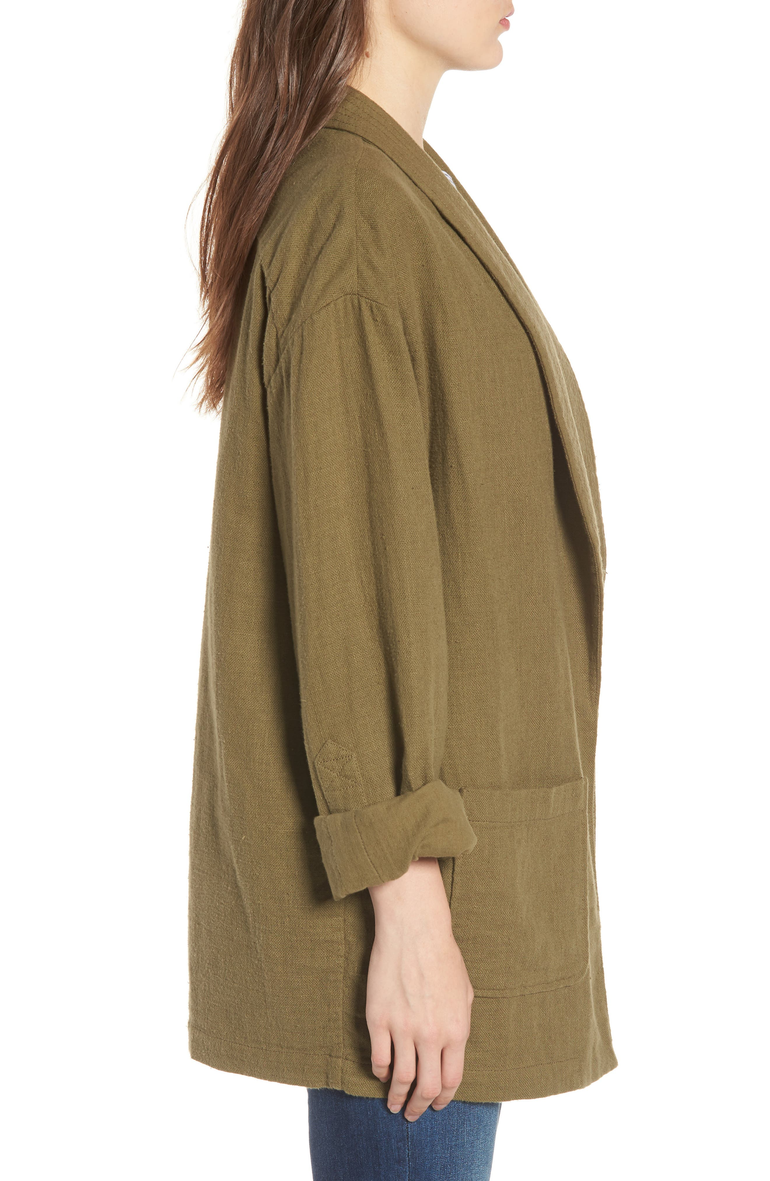 Maura Jacket,                             Alternate thumbnail 3, color,                             Olive Grove