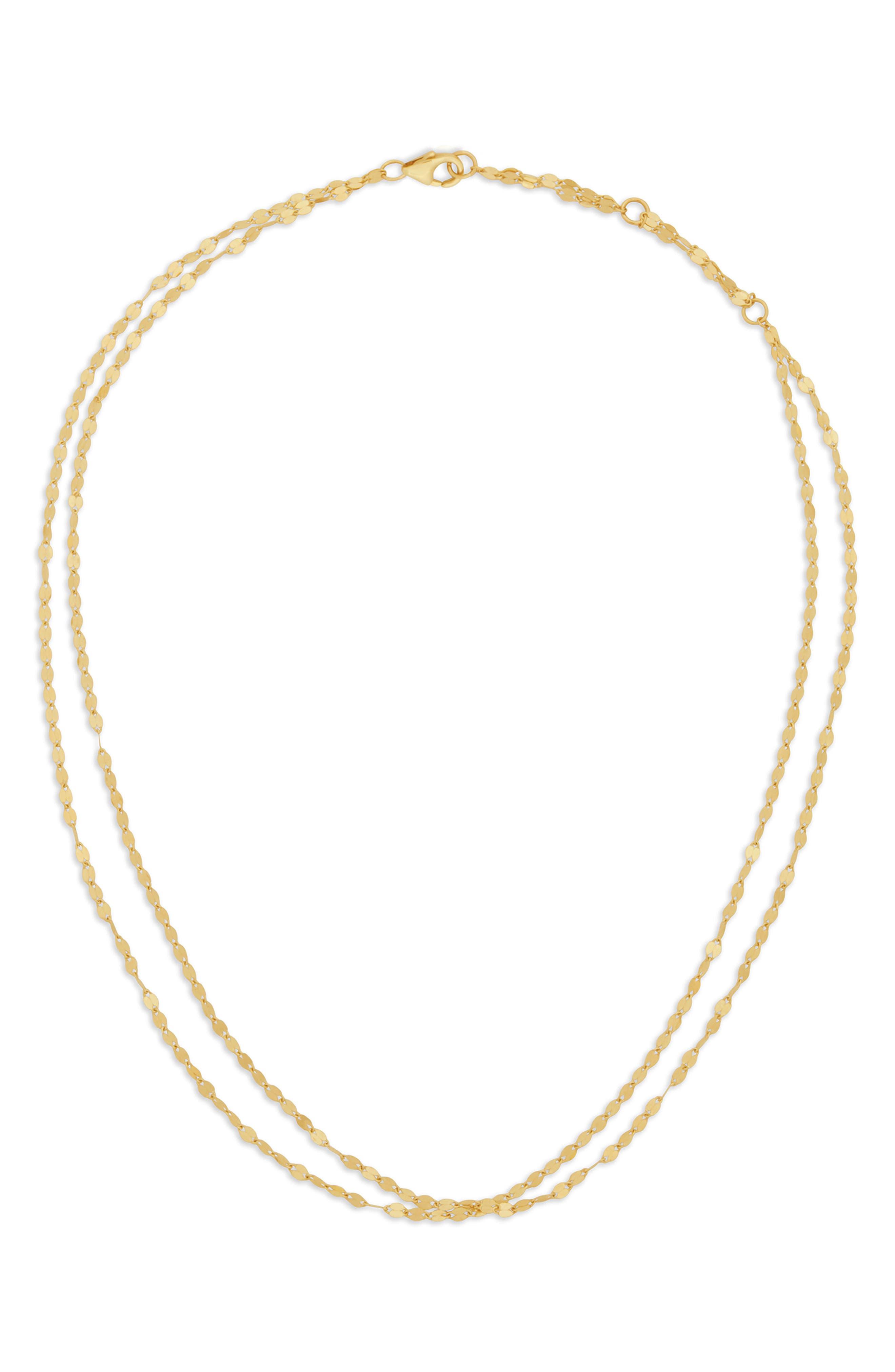 Alias Double Blake Short Necklace,                         Main,                         color, Yellow Gold