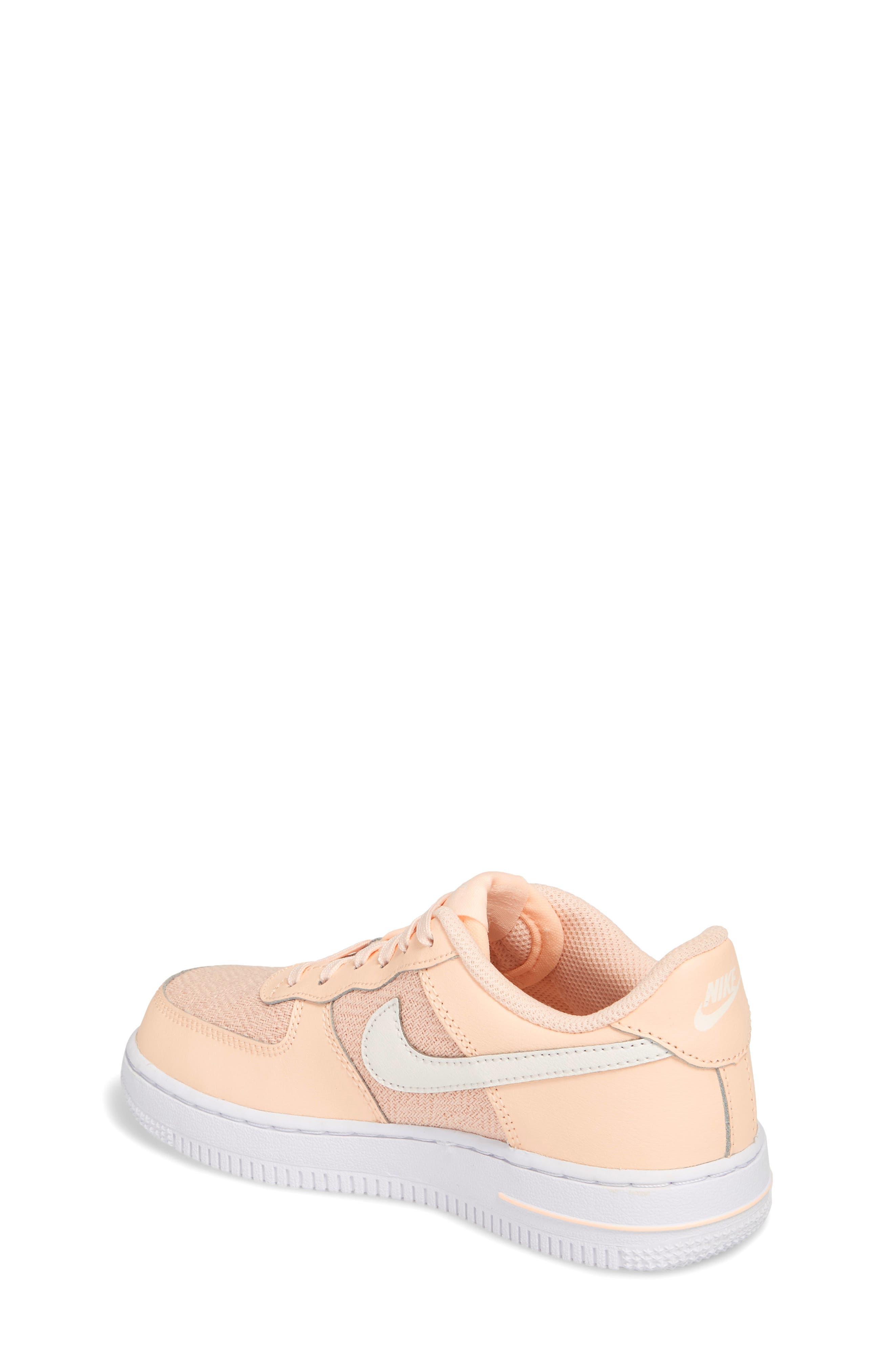 Air Force 1 LV8 Sneaker,                             Alternate thumbnail 2, color,                             Crimson Tint/ Sail/ White