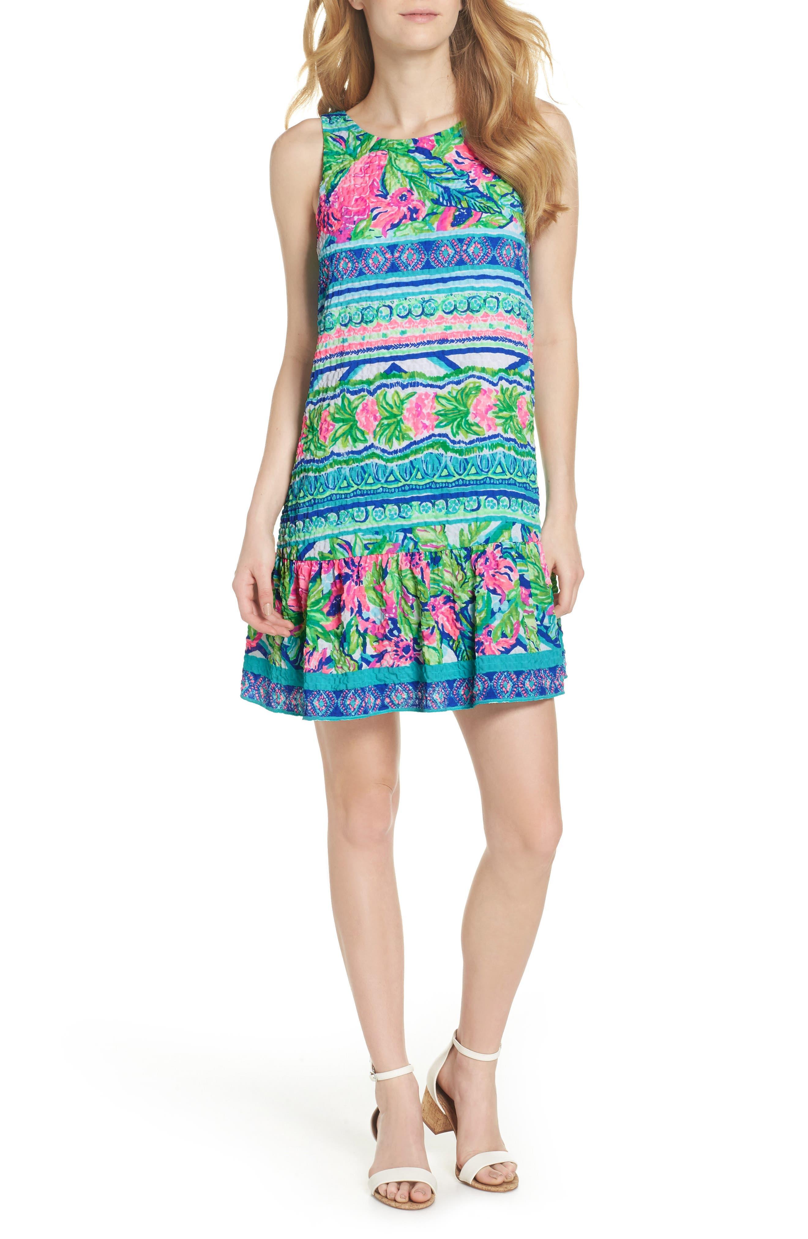 Lilly Pulitzer Gabriella Dress,                             Main thumbnail 1, color,                             Multi Daquiri Shack