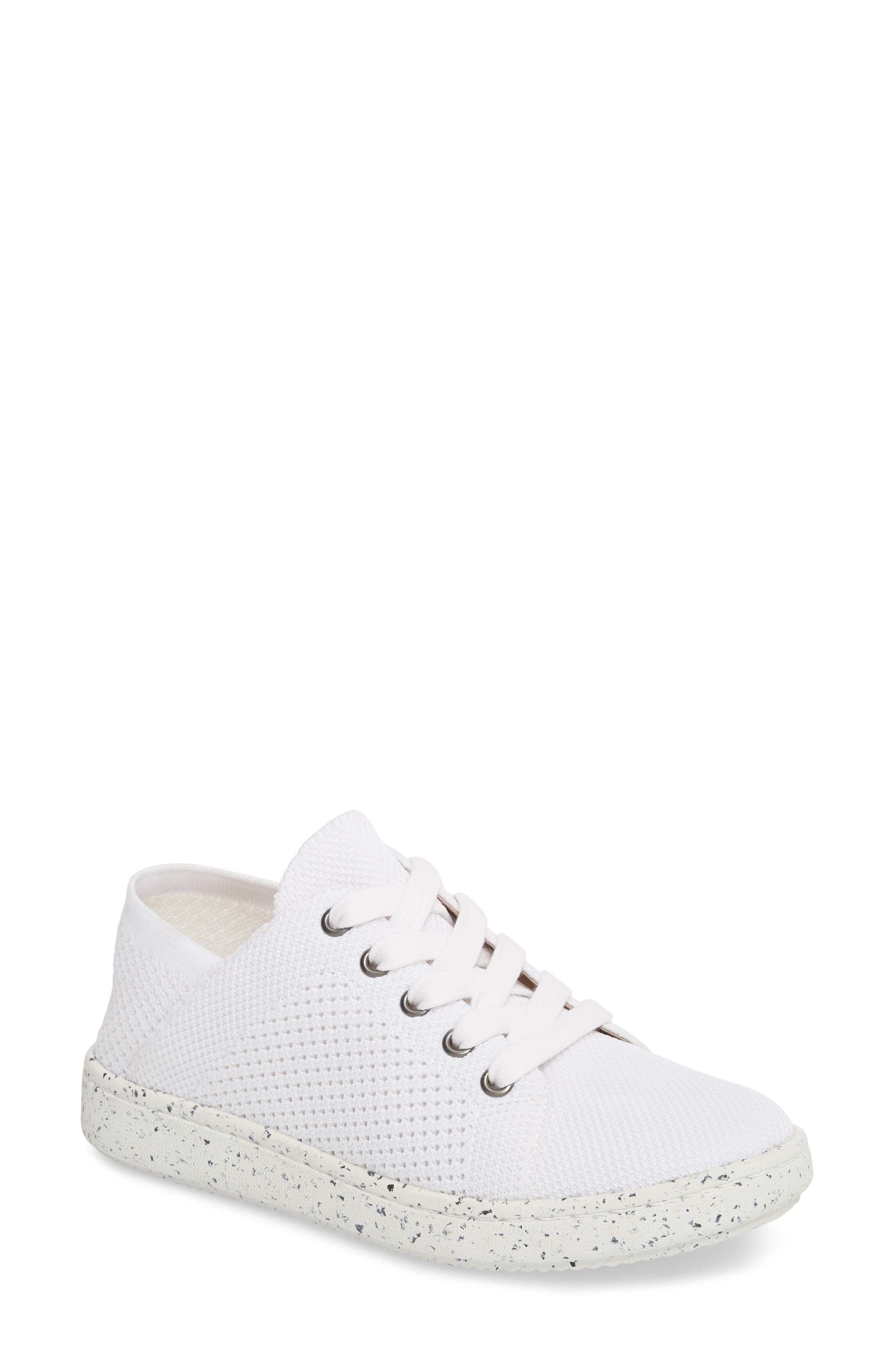 Clifton Sneaker,                         Main,                         color, White Fabric