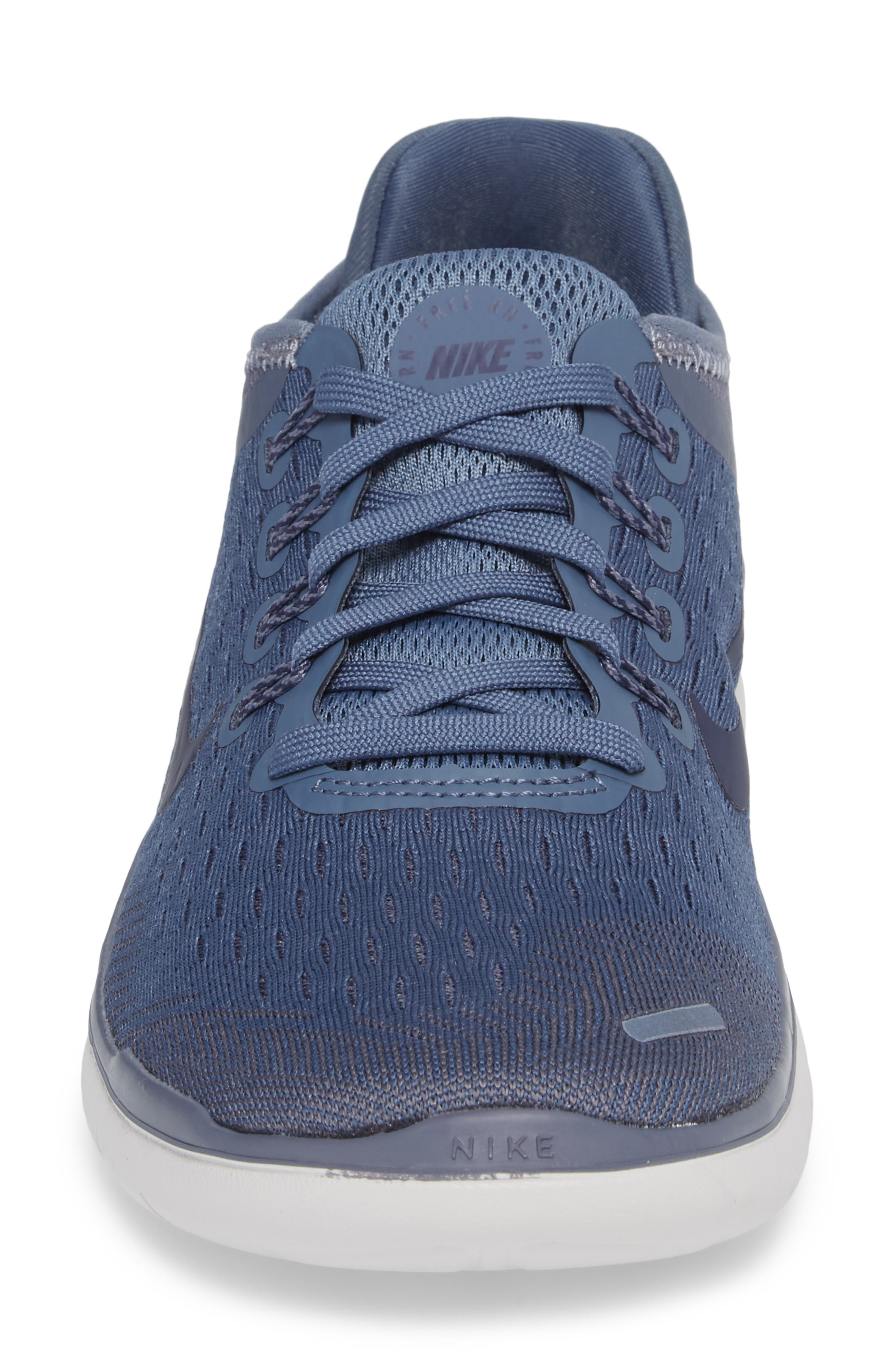 Free RN 2018 Running Shoe,                             Alternate thumbnail 4, color,                             Diffused Blue/ Neutral Indigo