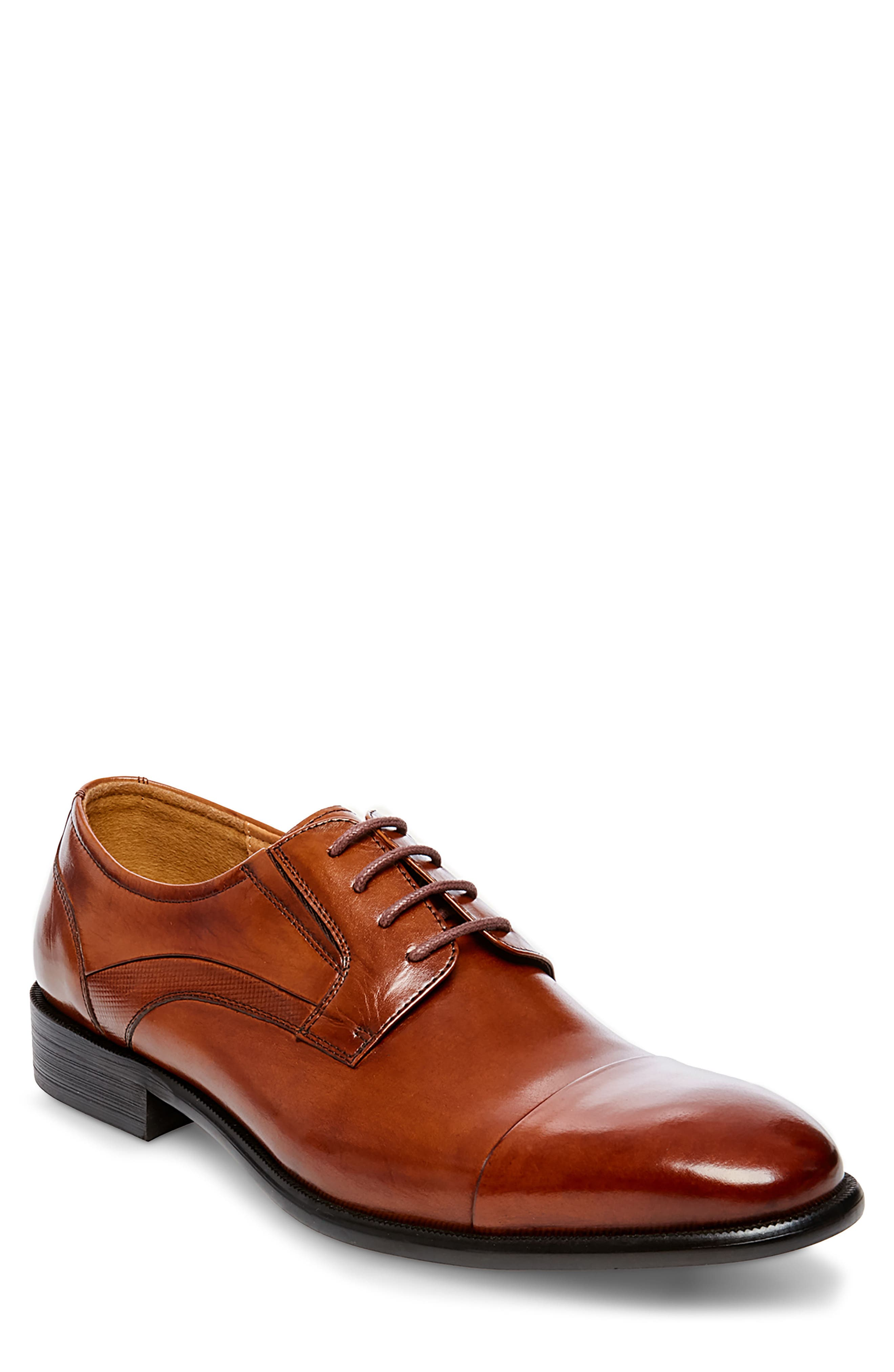 Carlo Cap Toe Derby,                         Main,                         color, Tan Leather