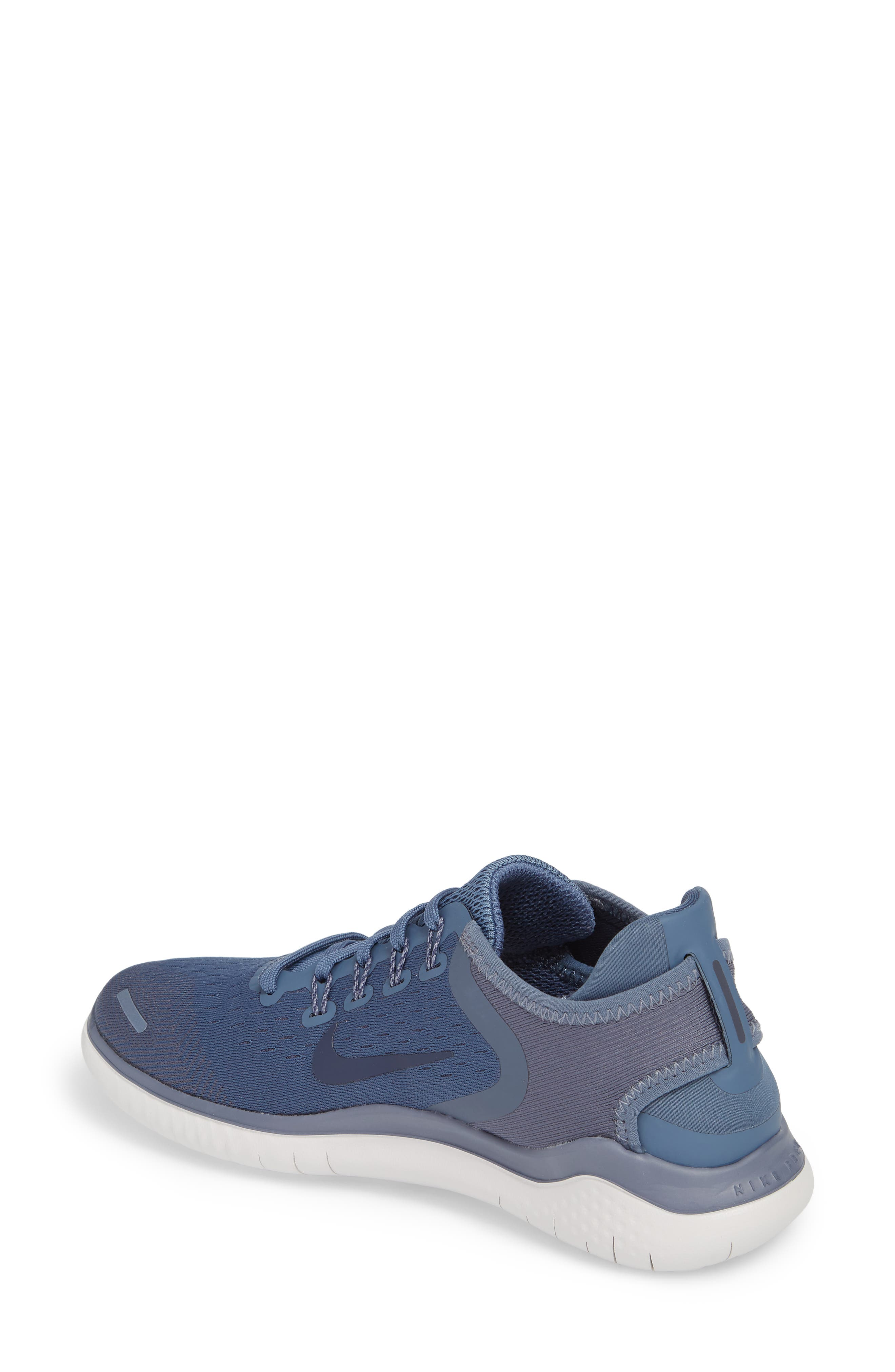 Free RN 2018 Running Shoe,                             Alternate thumbnail 2, color,                             Diffused Blue/ Neutral Indigo