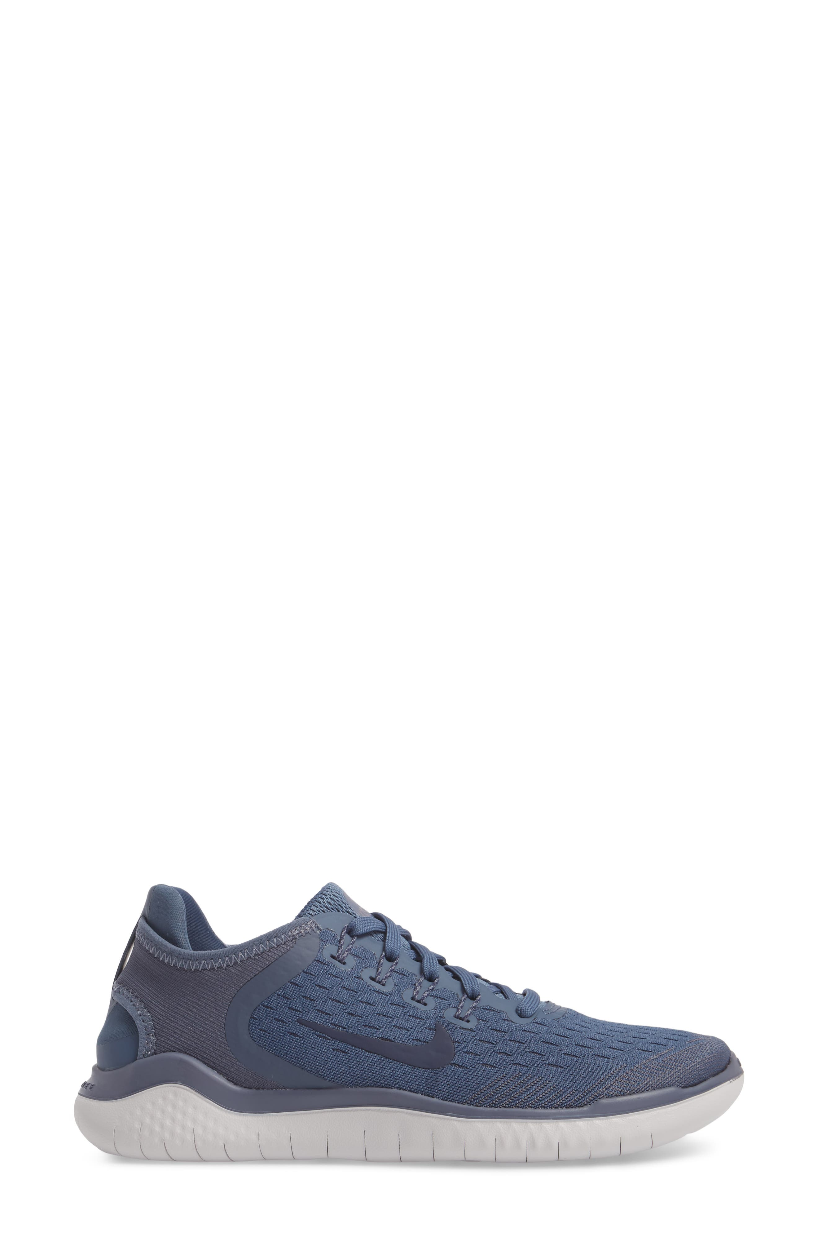 Free RN 2018 Running Shoe,                             Alternate thumbnail 3, color,                             Diffused Blue/ Neutral Indigo