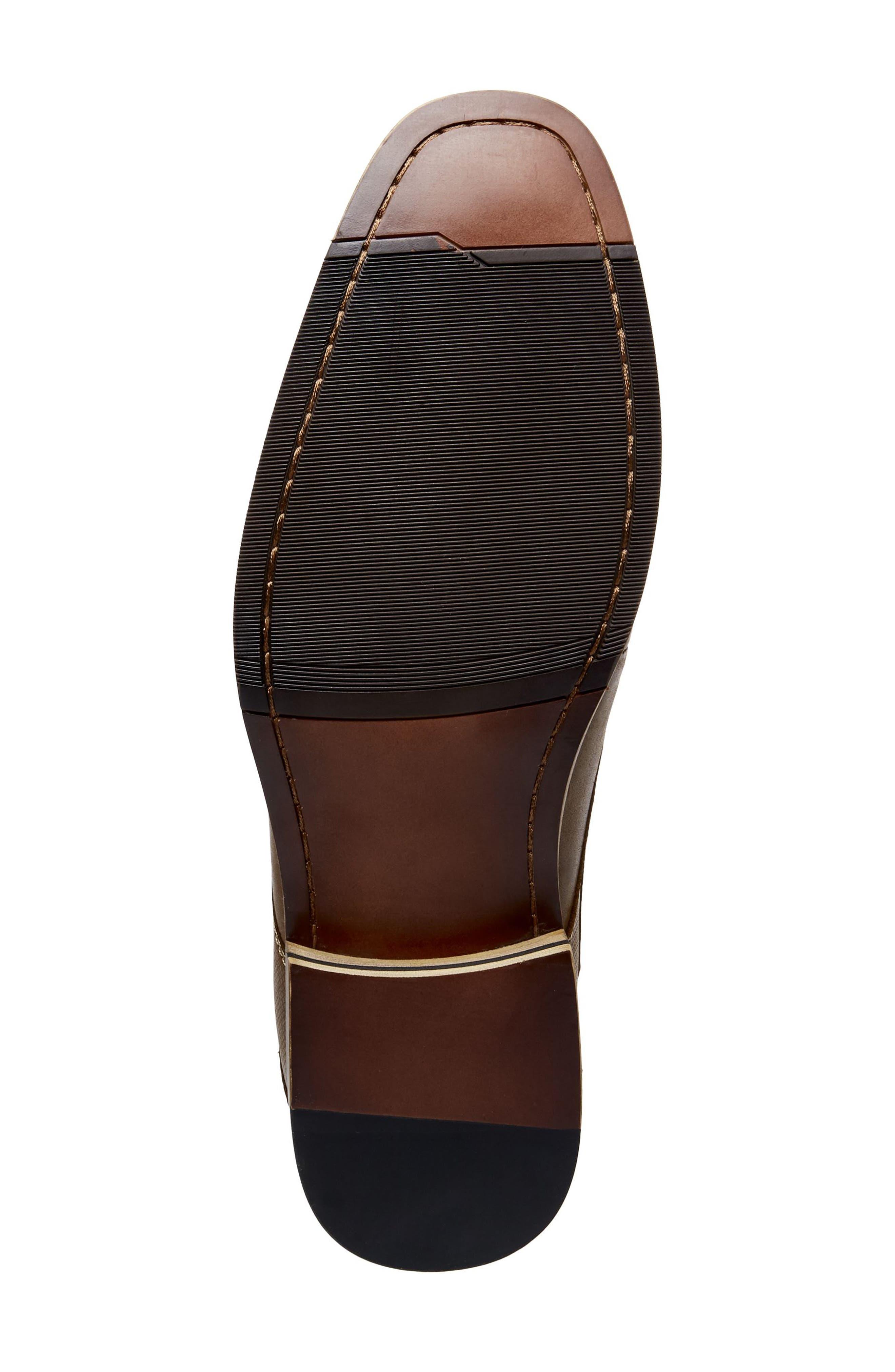 Jetset Plain Toe Derby,                             Alternate thumbnail 6, color,                             Dark Tan Leather