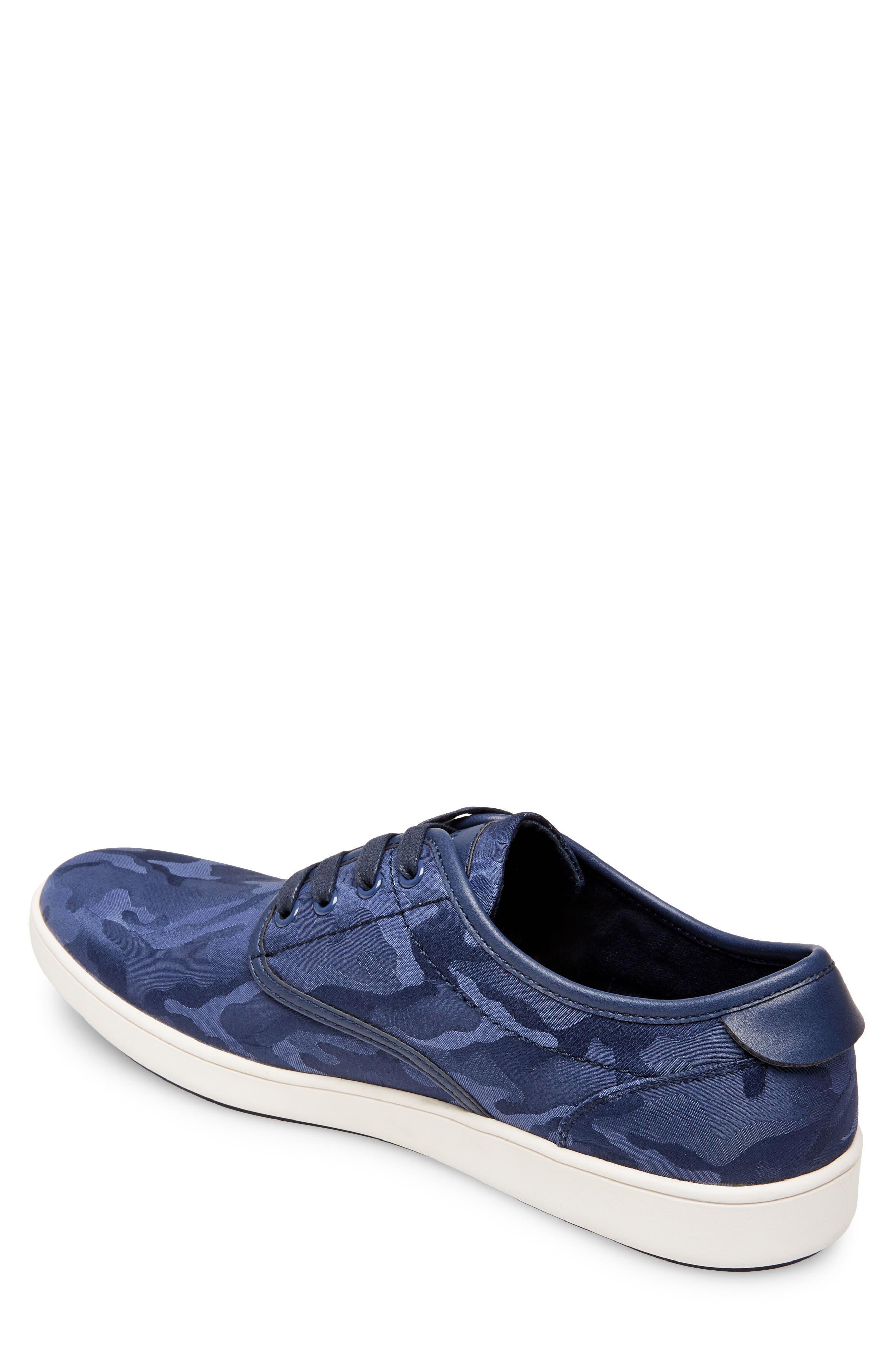 Frenzo Camo Sneaker,                             Alternate thumbnail 2, color,                             Blue Camo Fabric