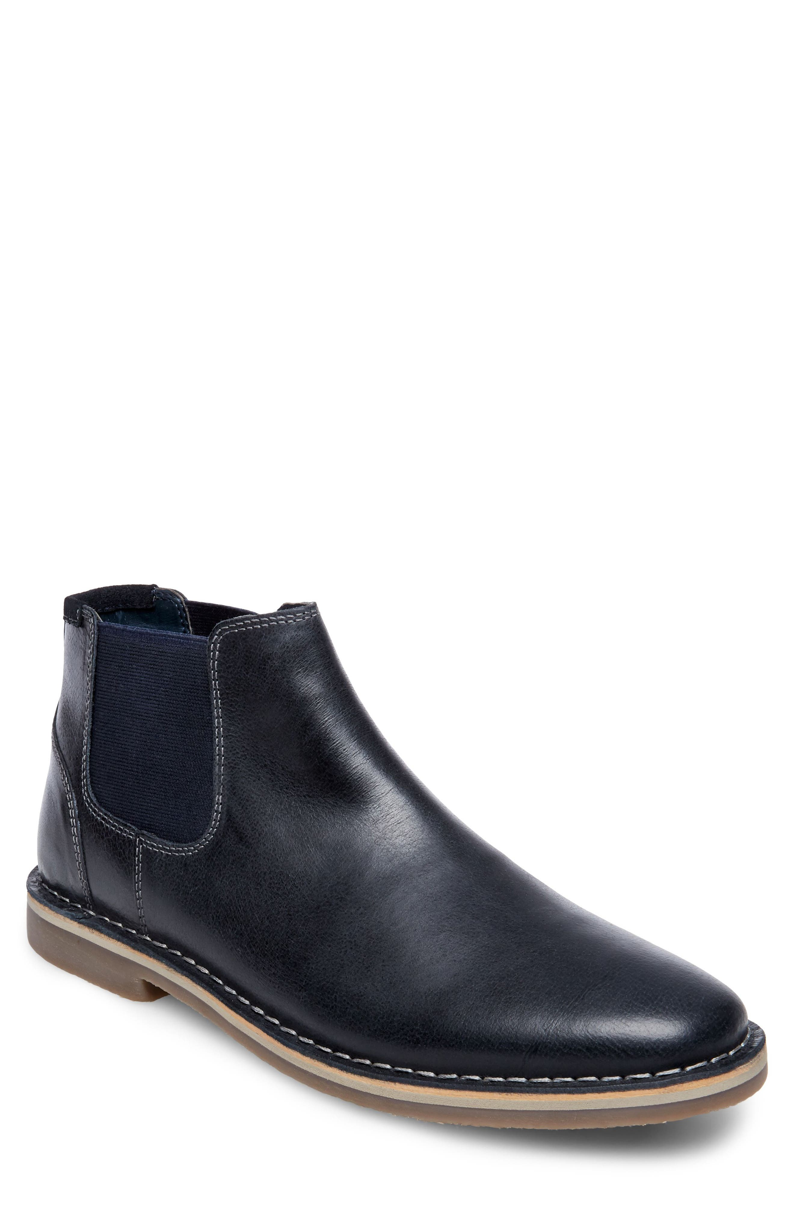 Horus Mid Top Chelsea Boot,                             Main thumbnail 1, color,                             Navy Leather