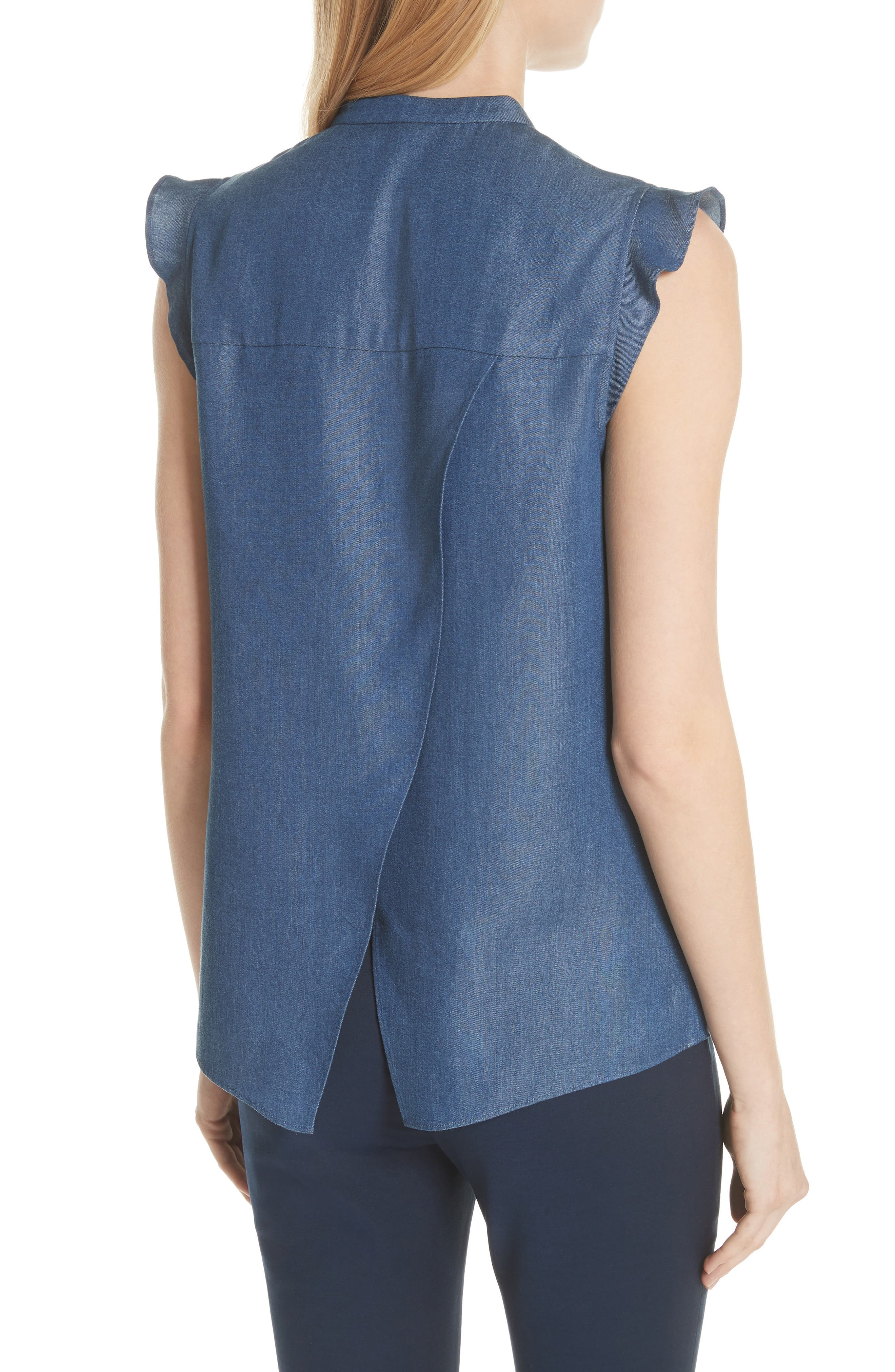 Colour by Numbers Denim Top,                             Alternate thumbnail 2, color,                             Mid-Wash