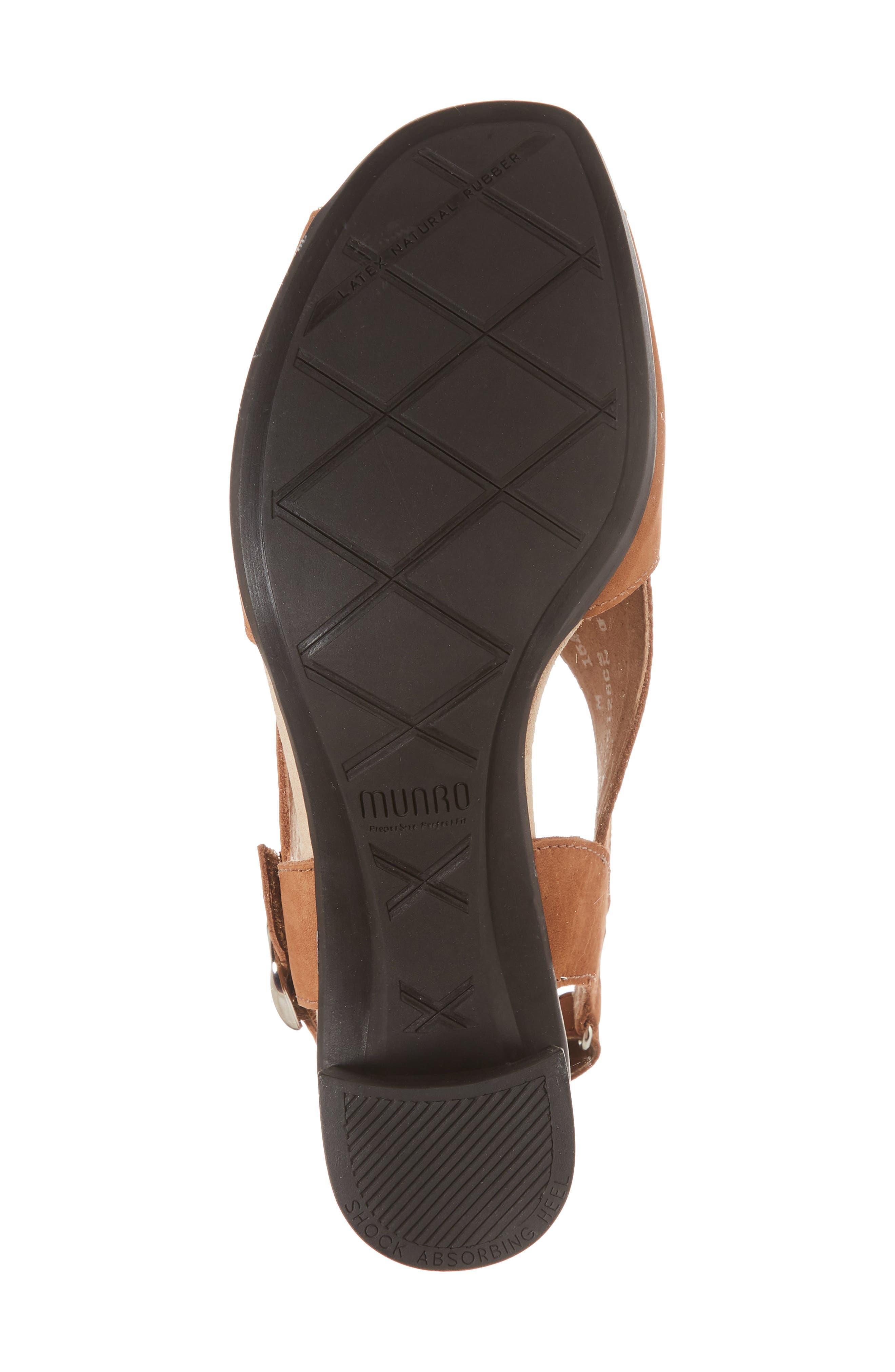 Laine Block Heel Sandal,                             Alternate thumbnail 6, color,                             Brown Nubuck Leather