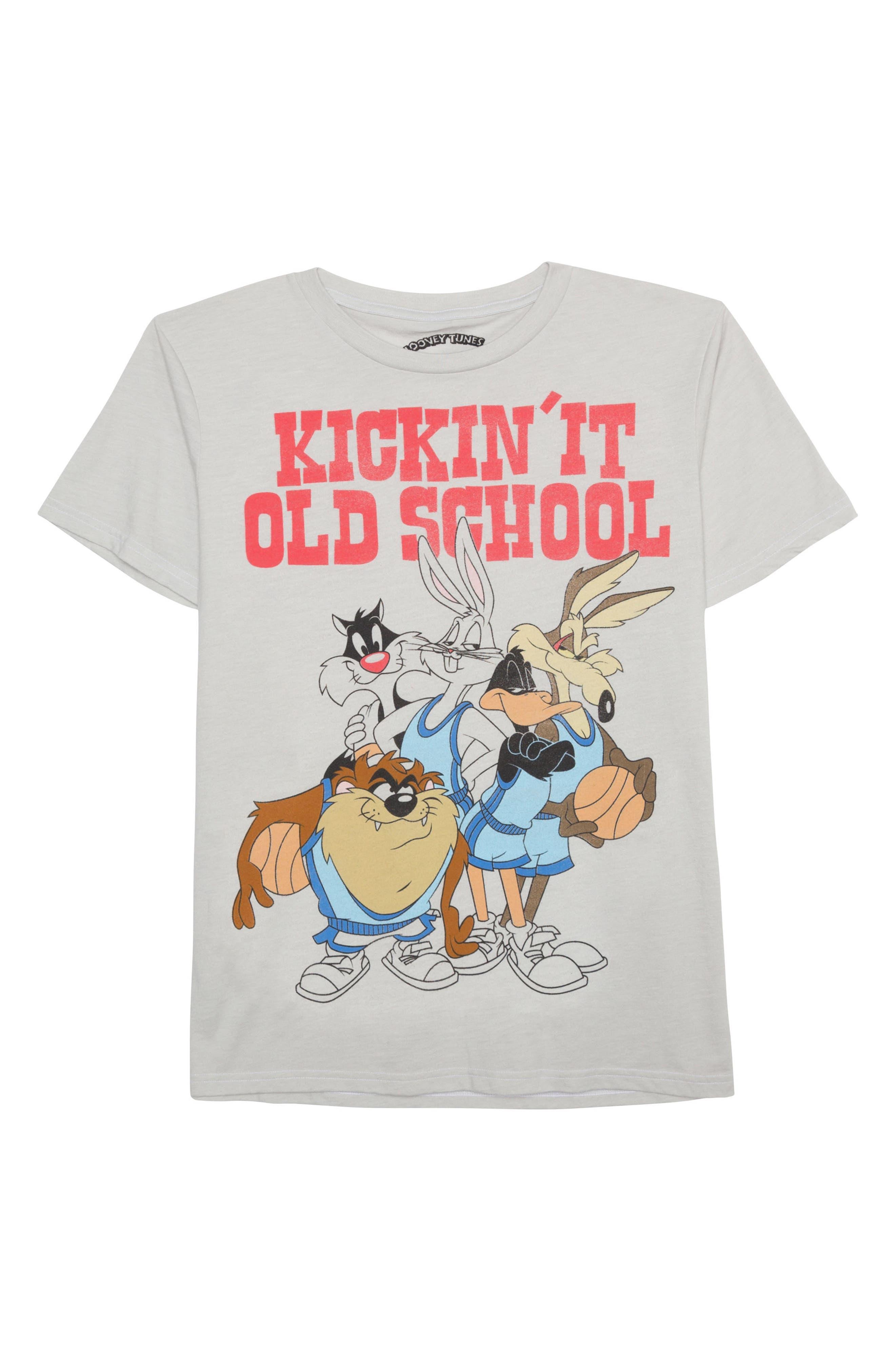 Kickin' It Loony Tunes Graphic T-Shirt,                         Main,                         color, Grey
