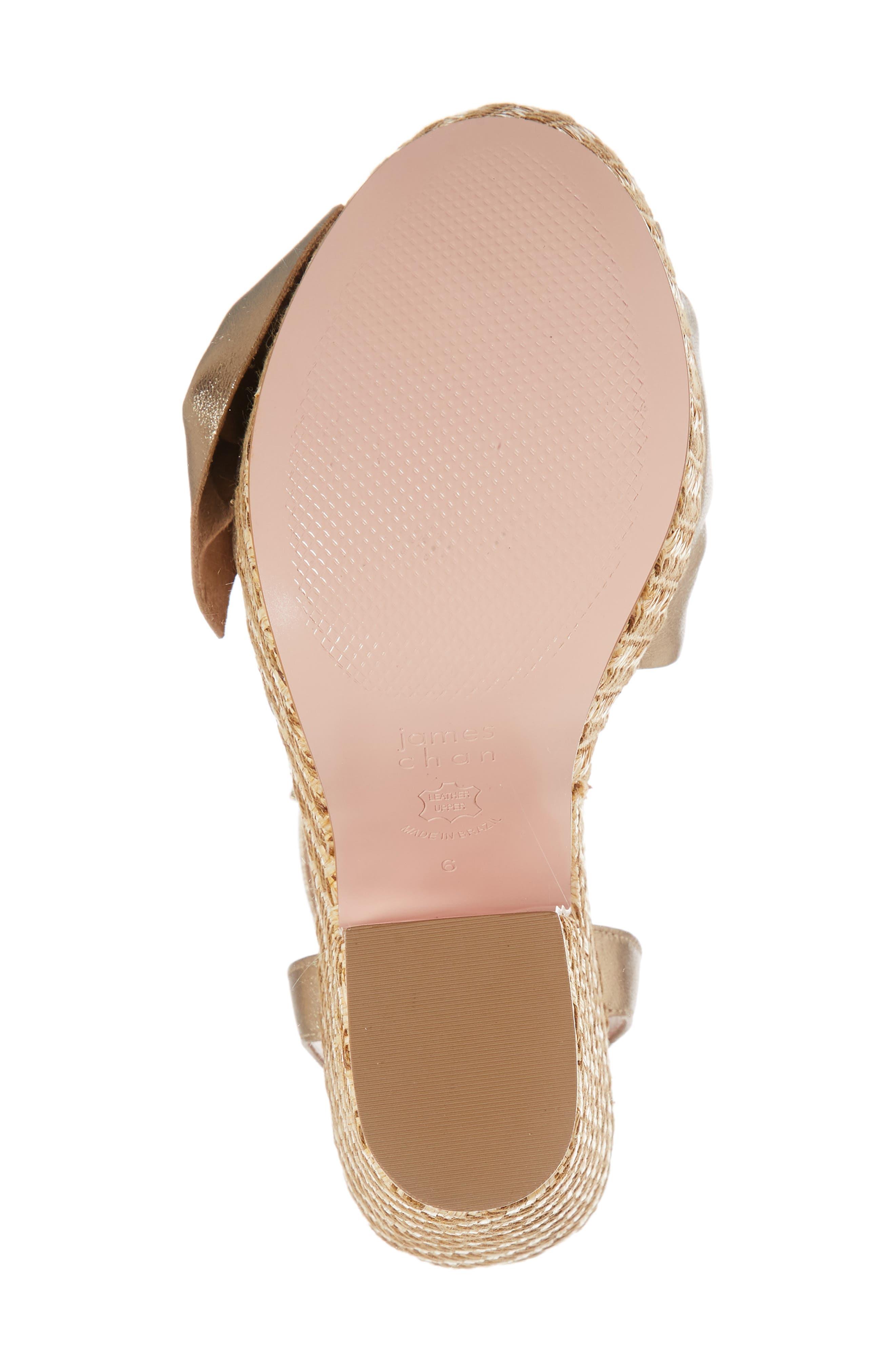 Pinky Platform Sandal,                             Alternate thumbnail 6, color,                             Dark Gold Suede
