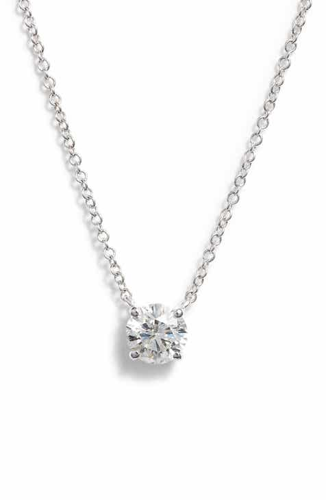 Womens necklaces designer jewelry nordstrom bony levy liora large solitaire diamond pendant nordstrom exclusive aloadofball Images