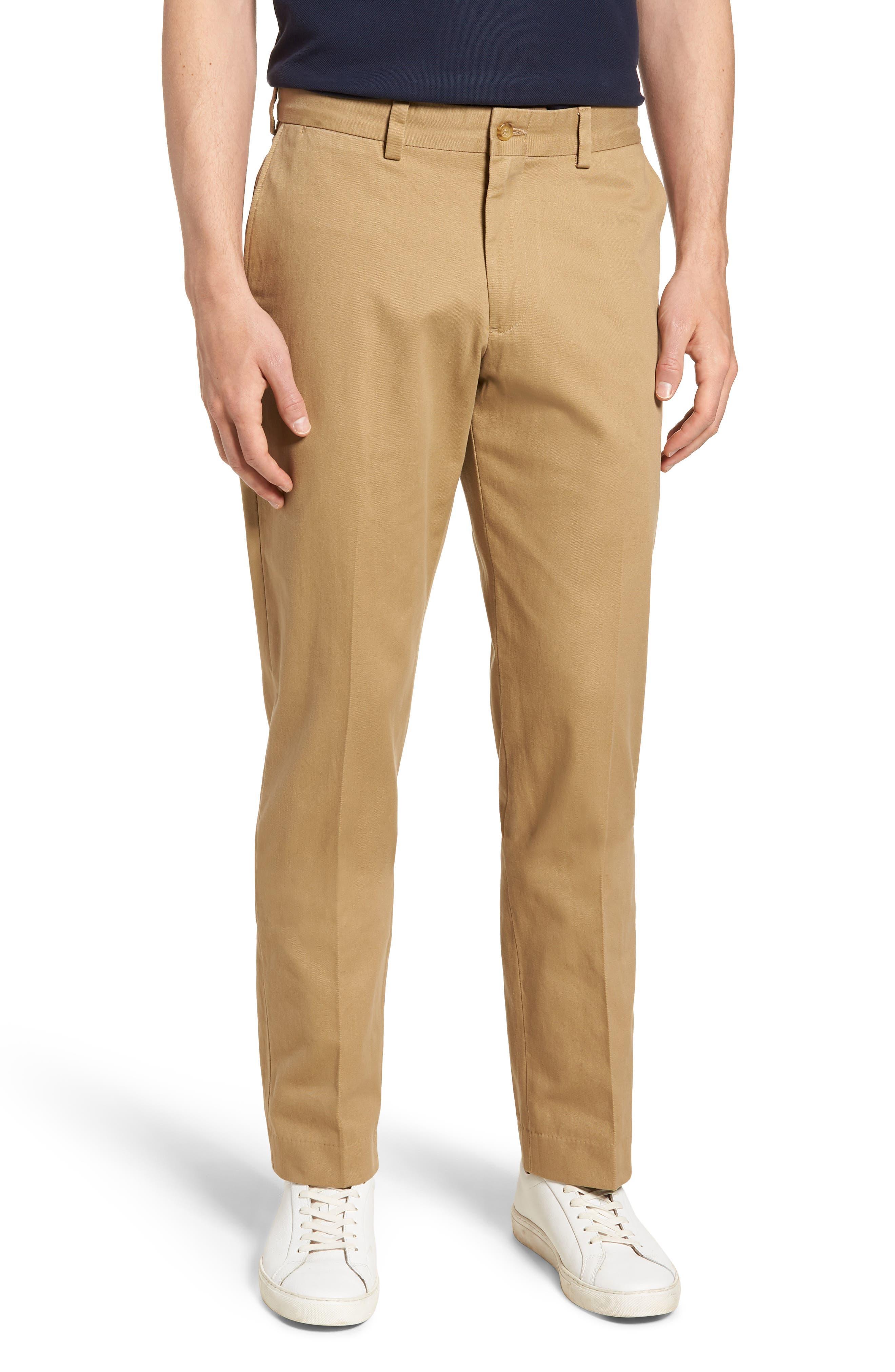 M3 Straight Fit Vintage Twill Flat Front Pants,                         Main,                         color, British Khaki