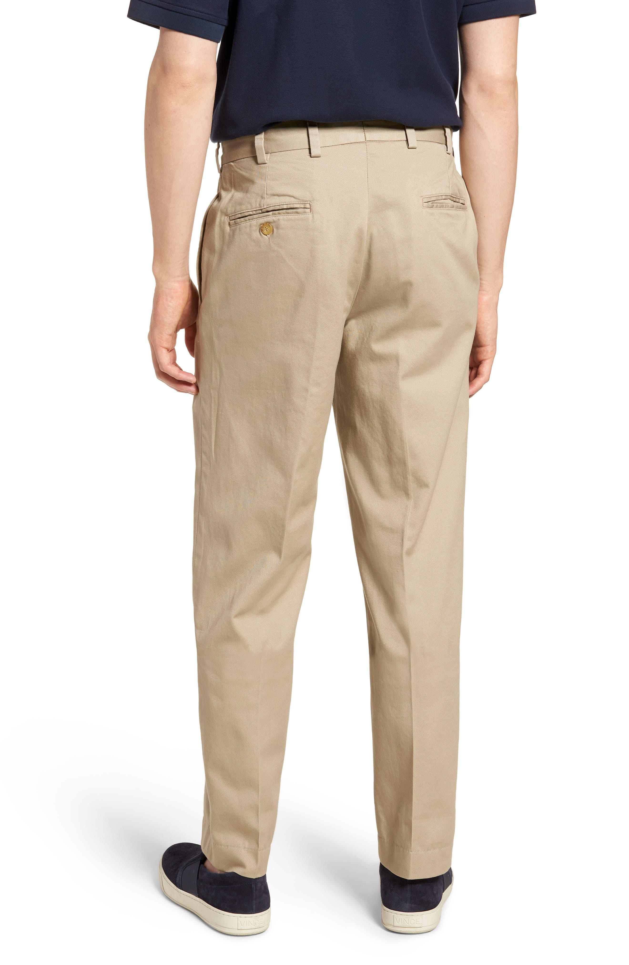 M2 Classic Fit Vintage Twill Flat Front Pants,                             Alternate thumbnail 2, color,                             Khaki
