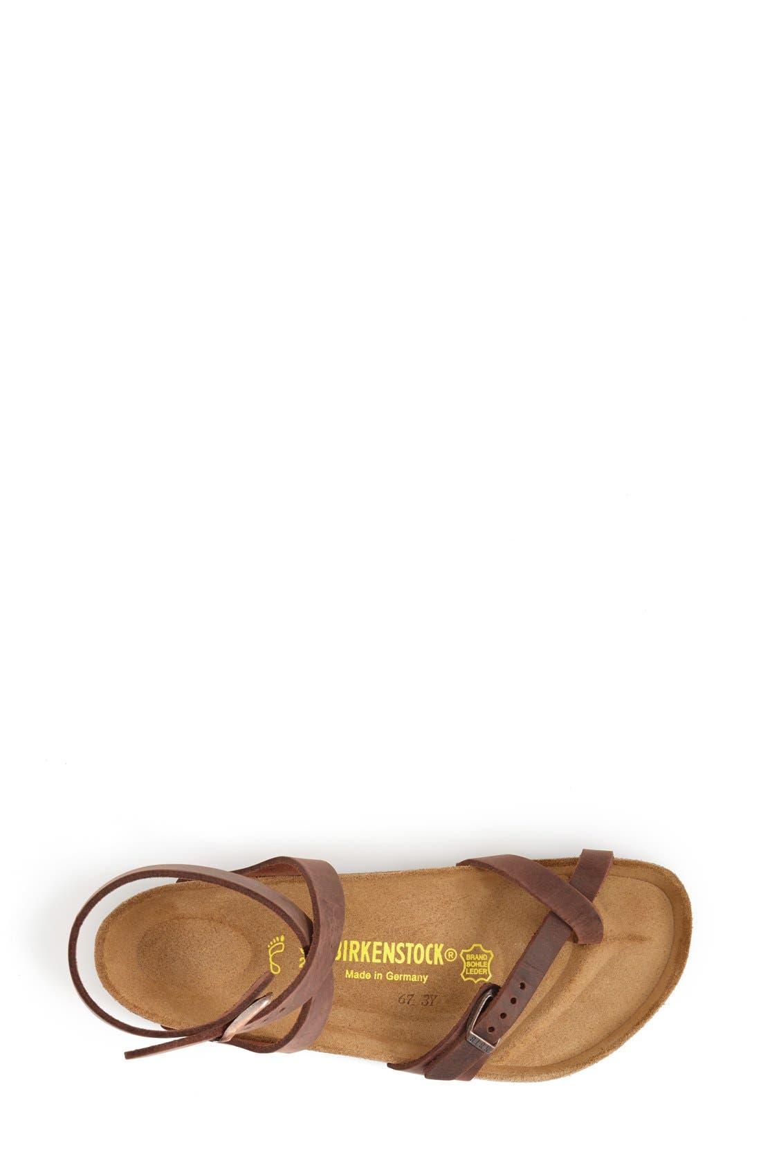 'Yara' Sandal,                             Alternate thumbnail 3, color,                             Yara Habana Oiled Leather