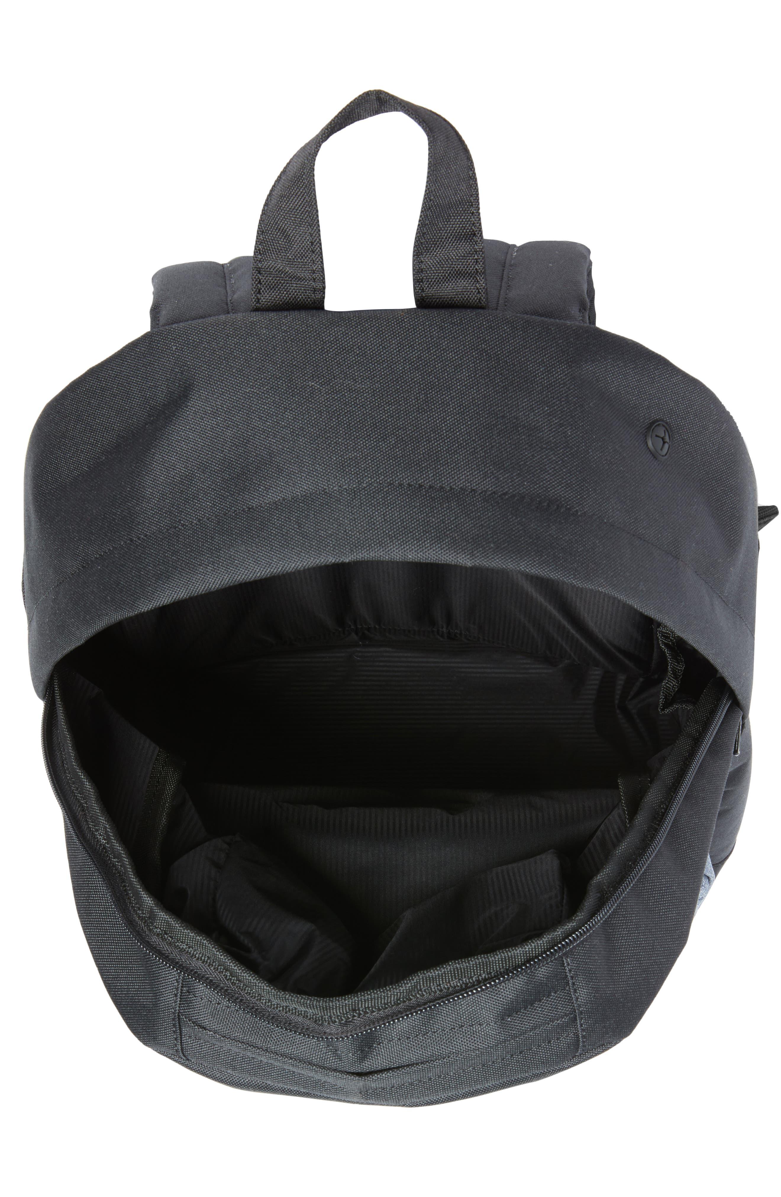 Pop Quiz - Chambray Backpack,                             Alternate thumbnail 4, color,                             Black/ Dark Chambray