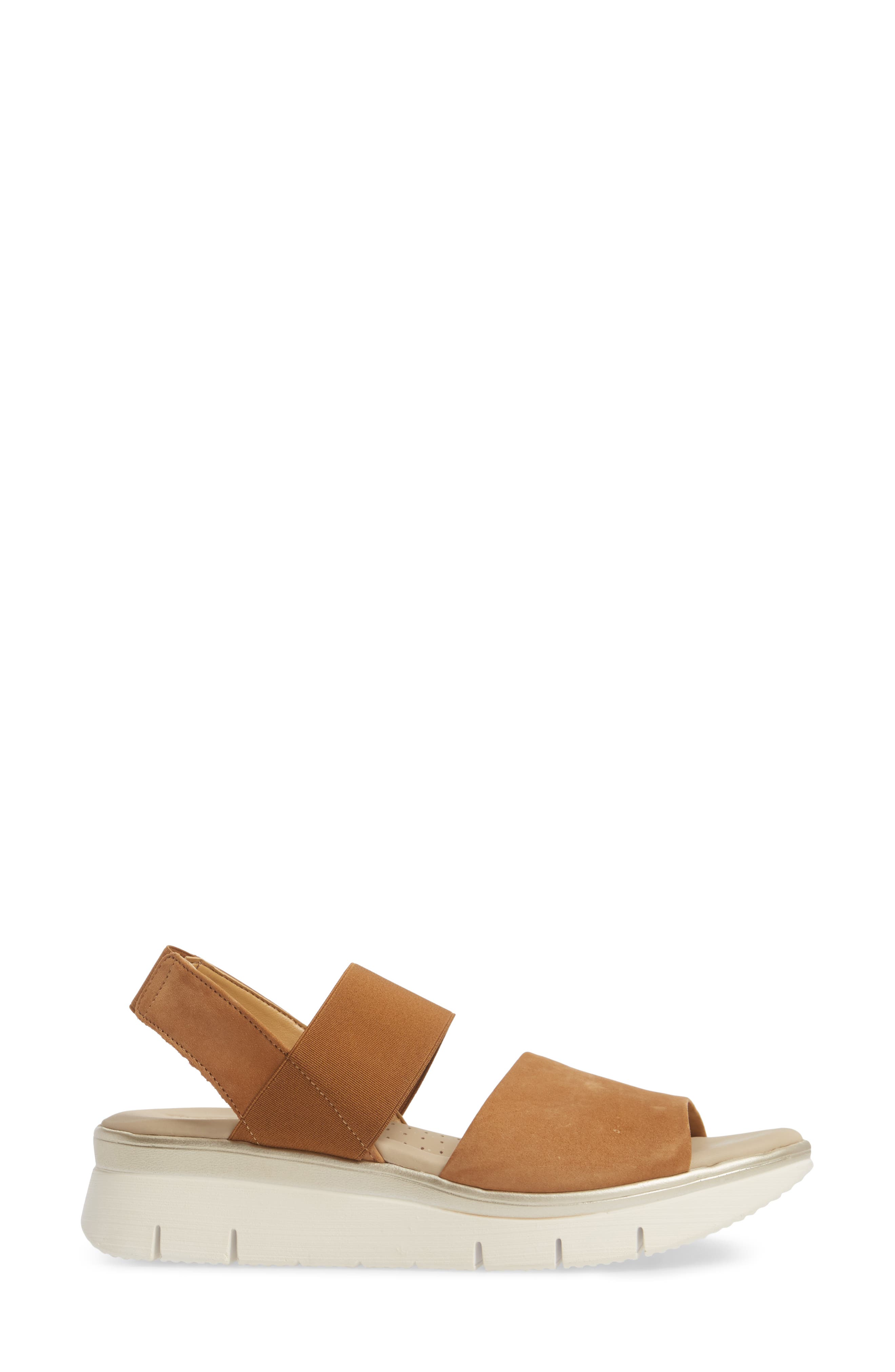 Cushy Sandal,                             Alternate thumbnail 3, color,                             Cognac Nubuck