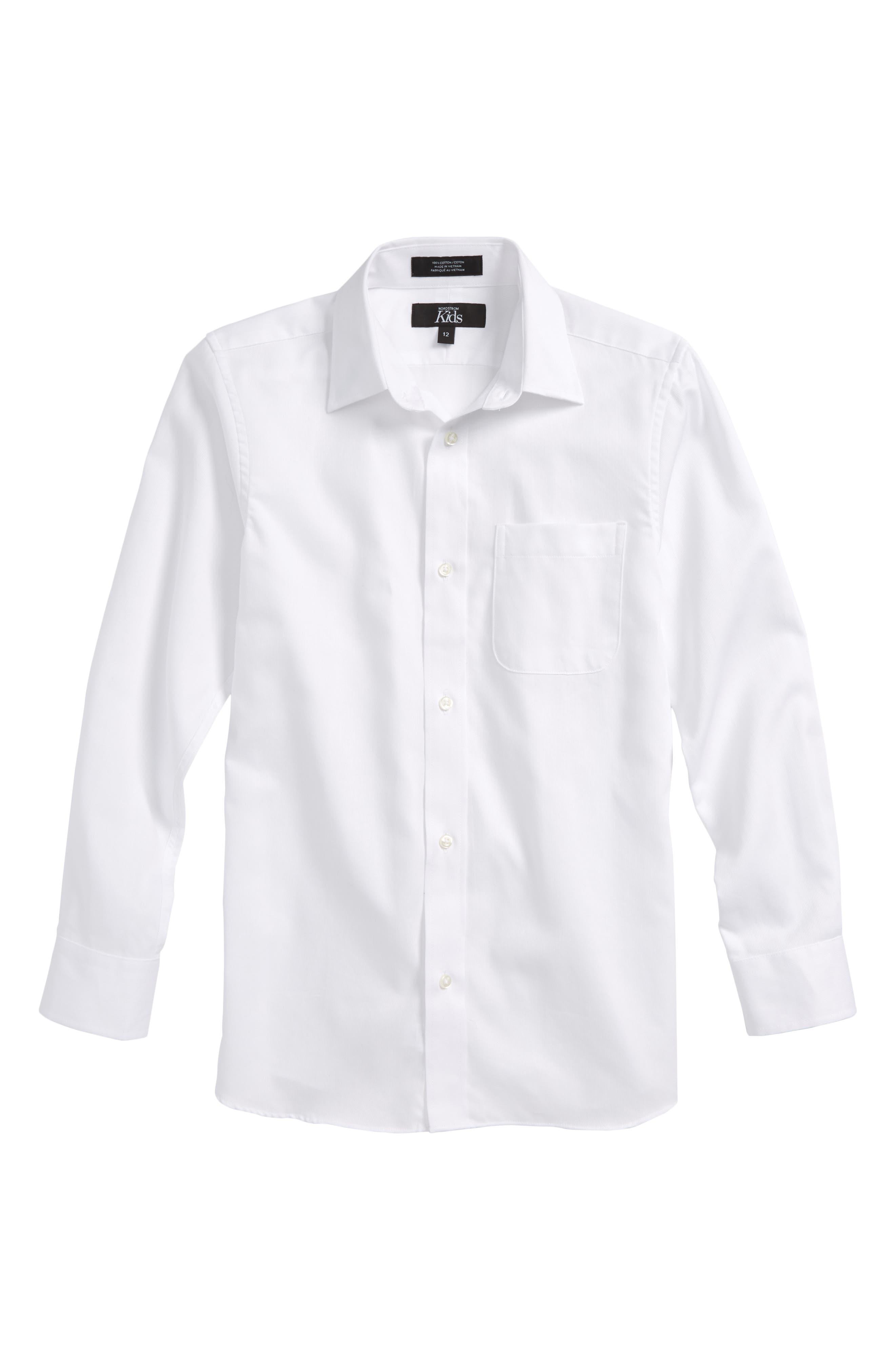Smartcare<sup>™</sup> Dress Shirt,                         Main,                         color, White Texture