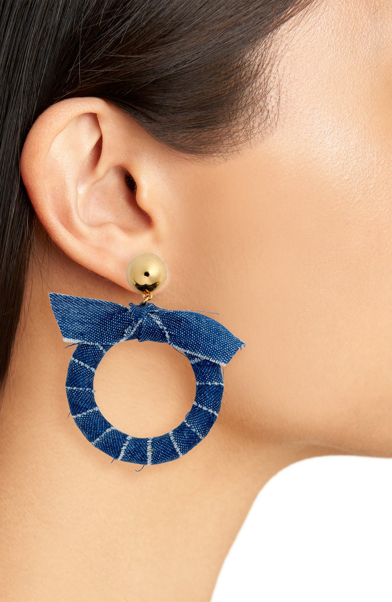 tie it on hoops,                             Alternate thumbnail 2, color,                             Blue Multi