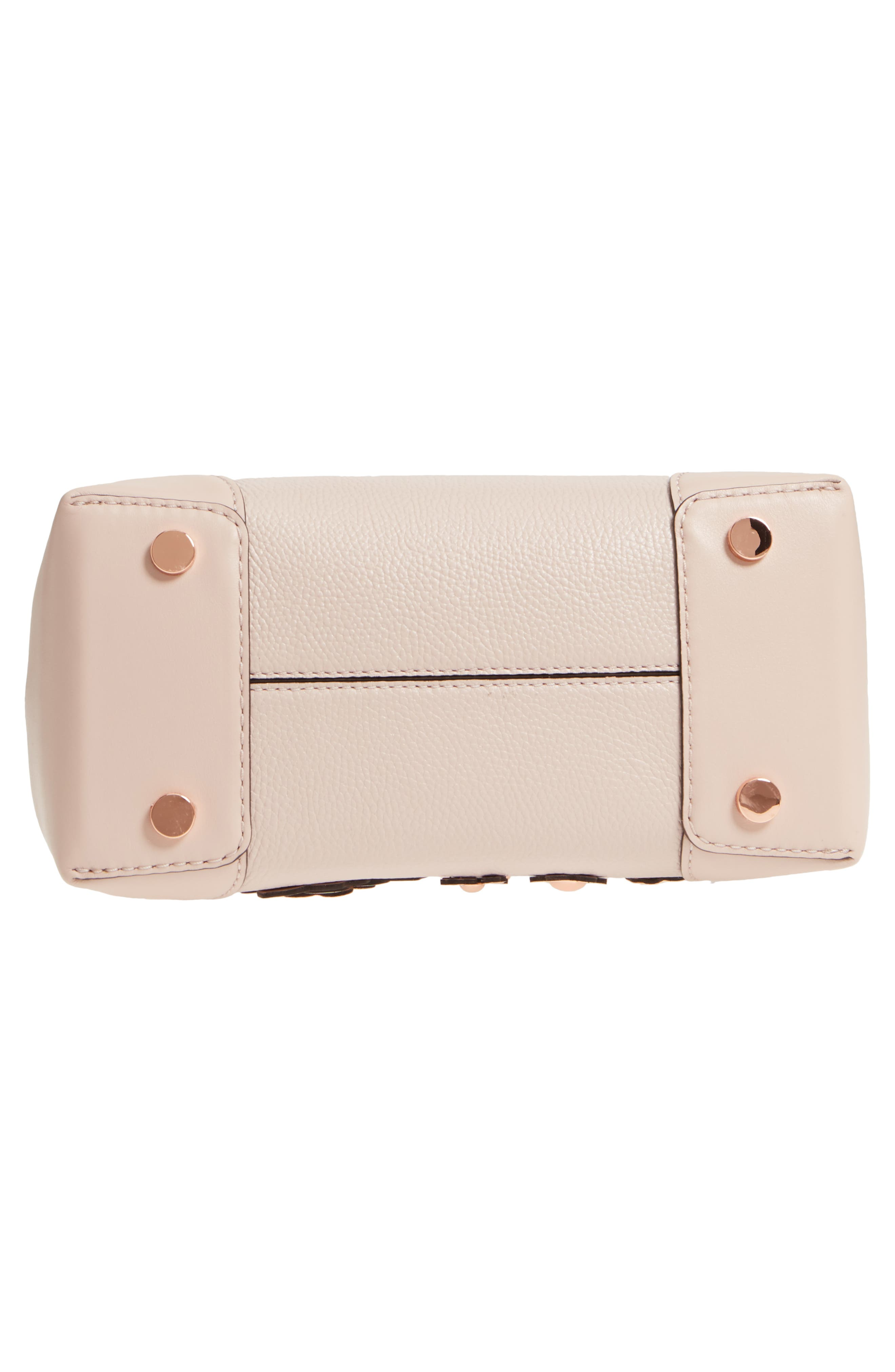 Small Mercer Gallery Leather Satchel,                             Alternate thumbnail 6, color,                             Soft Pink Multi