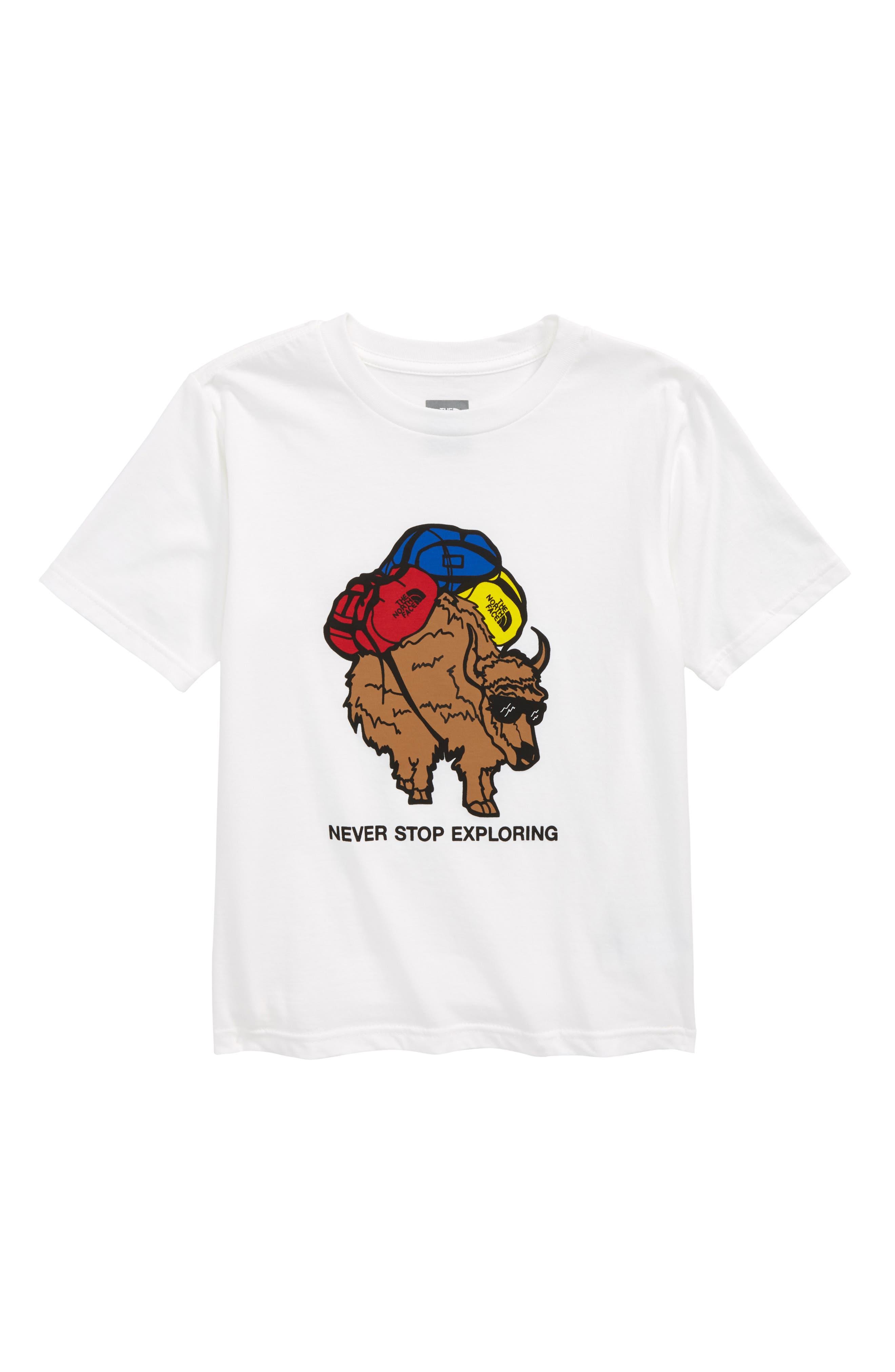Graphic T-Shirt,                         Main,                         color, Tnf White/ Multi-Color