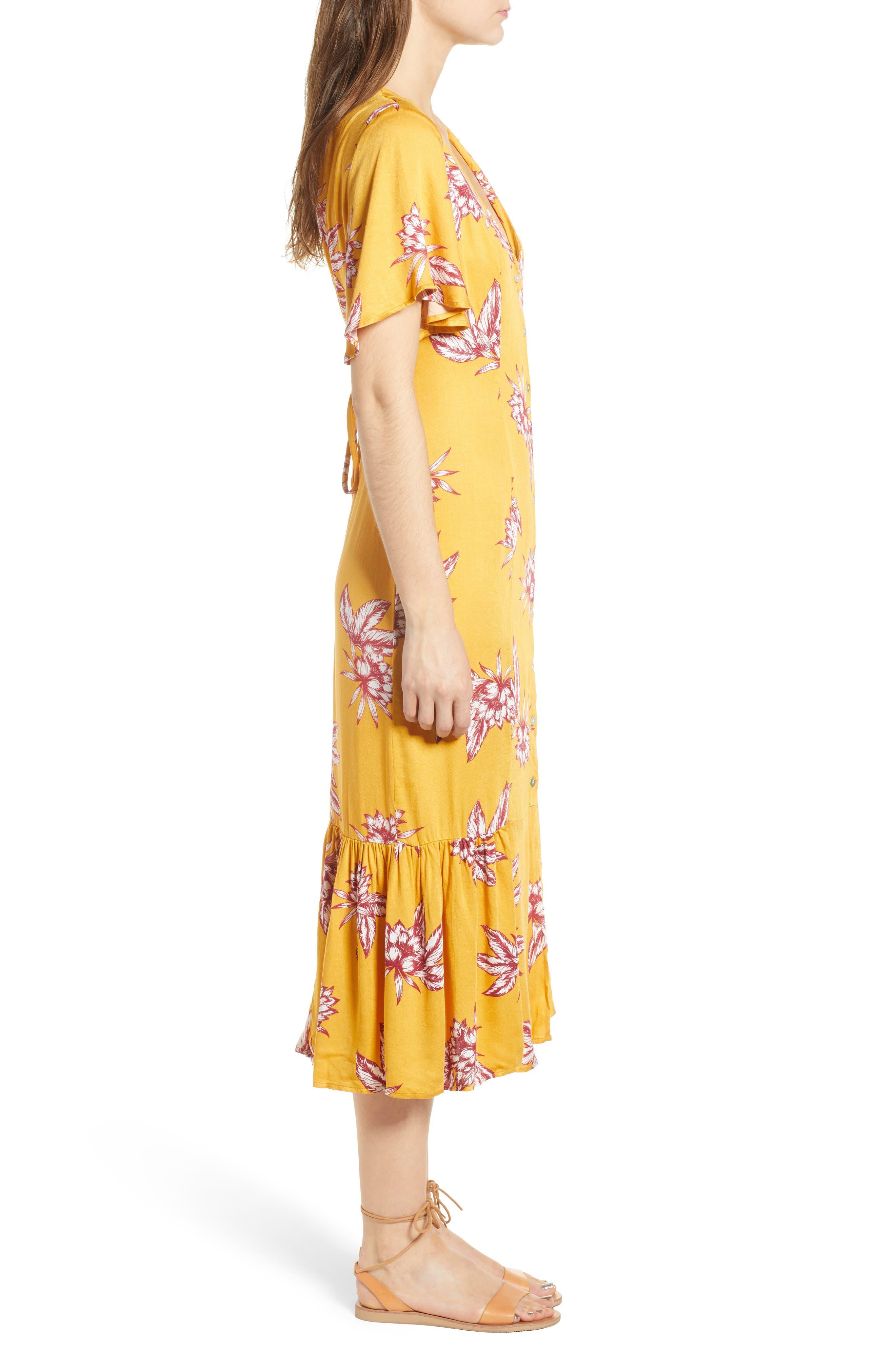 Searing Soul Midi Dress,                             Alternate thumbnail 4, color,                             Multi