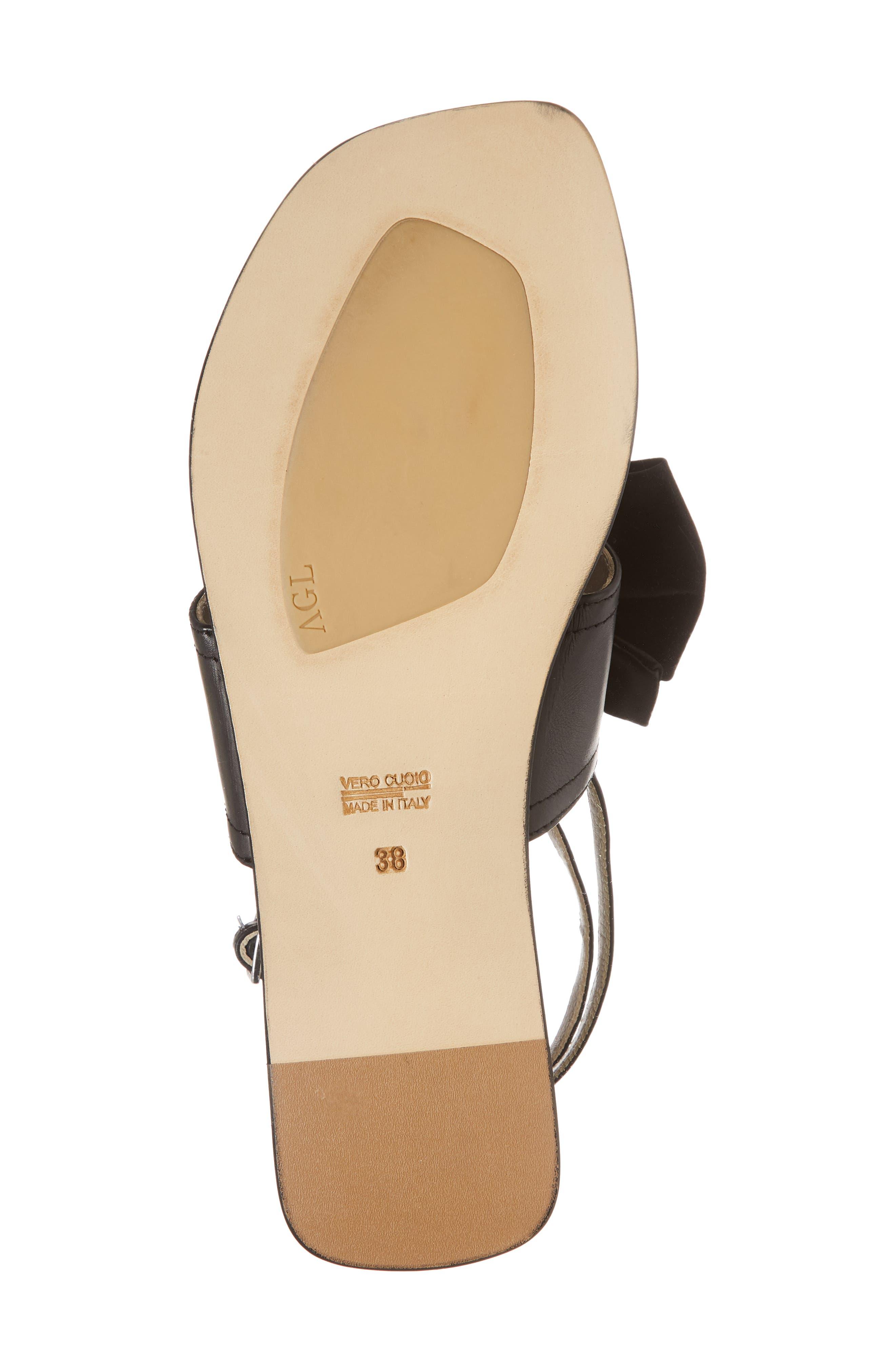 Ankle Strap Sandal,                             Alternate thumbnail 6, color,                             Black Leather