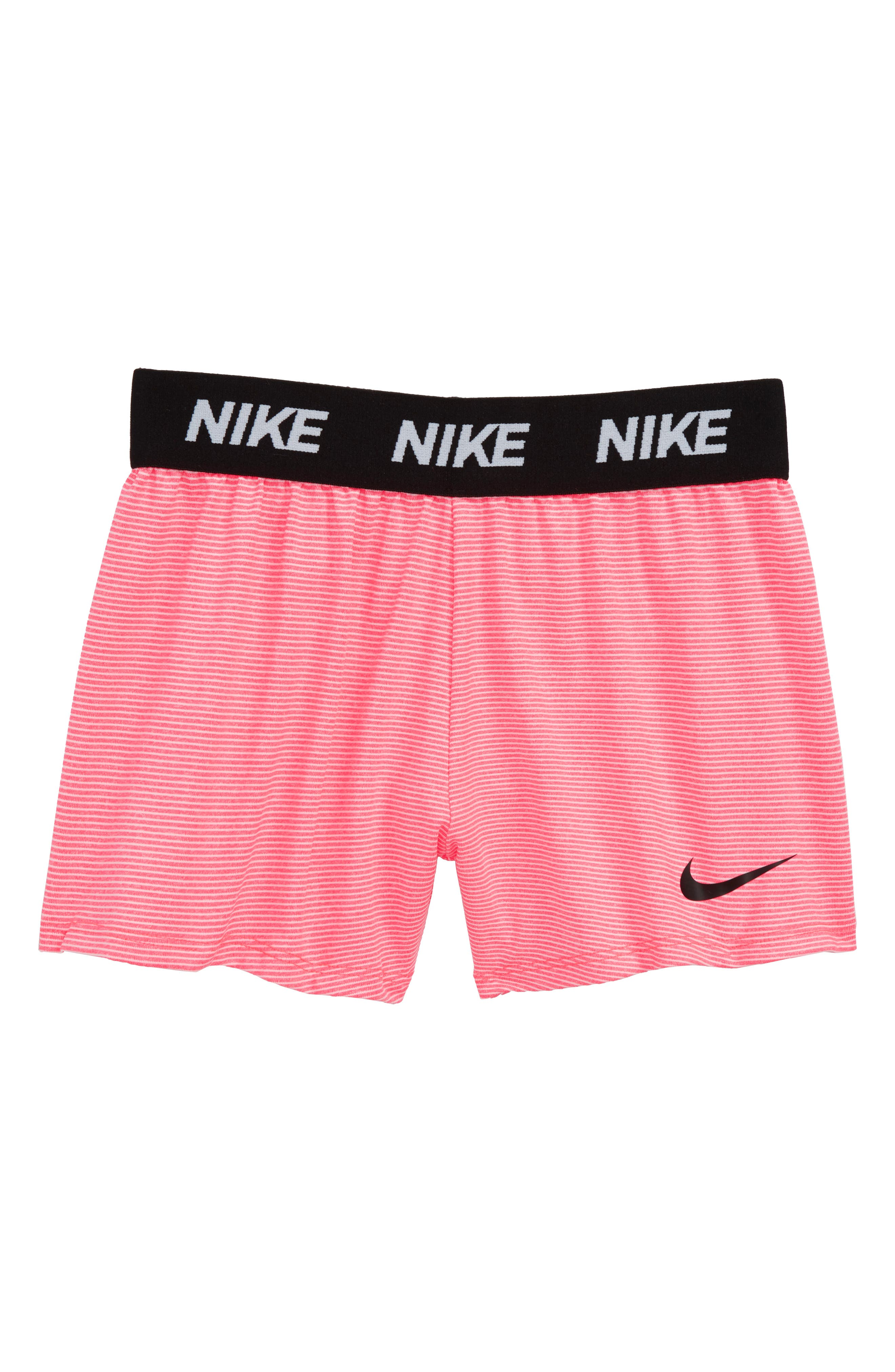 Dry Sport Essentials Training Shorts,                             Main thumbnail 1, color,                             Racer Pink Stripe Heather