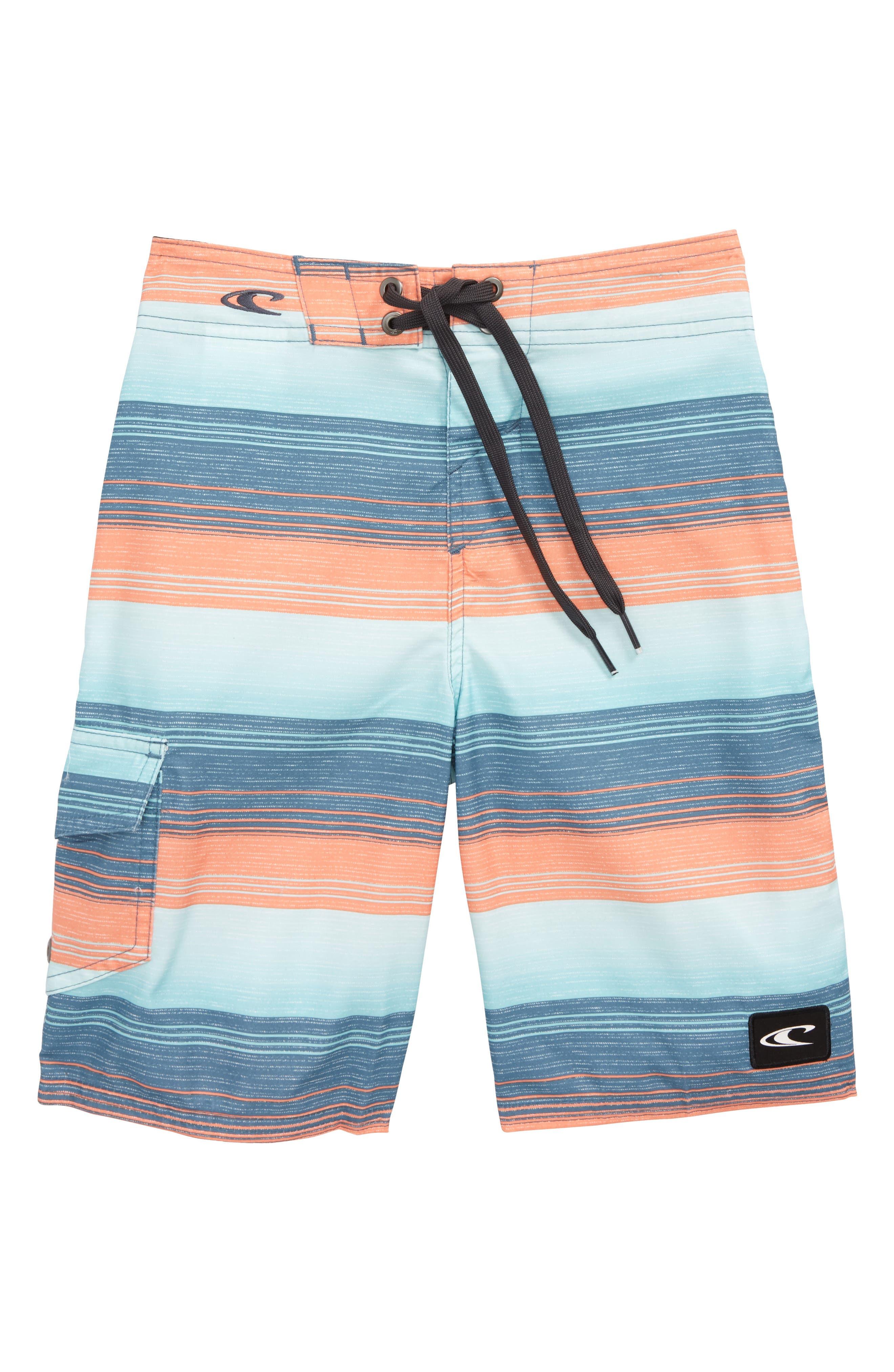 Alternate Image 1 Selected - O'Neill Santa Cruz Stripe Board Shorts (Big Boys)